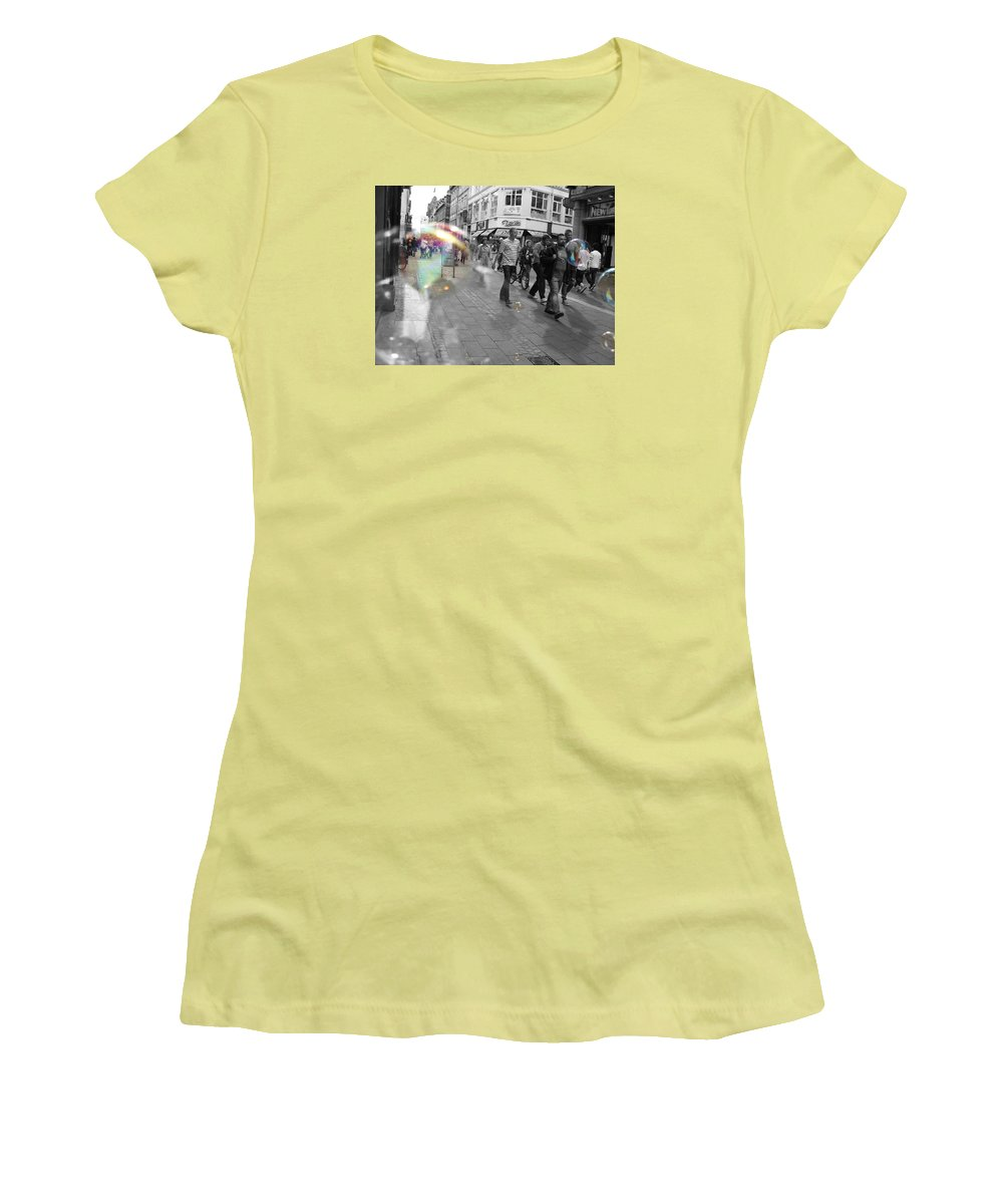 Photography Women's T-Shirt (Athletic Fit) featuring the photograph Bubbles. Copenhagen. 2 by Cristina Rettegi