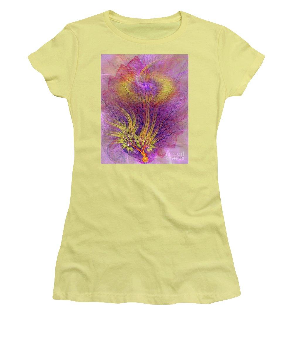 Burning Bush Women's T-Shirt (Athletic Fit) featuring the digital art Burning Bush by John Beck