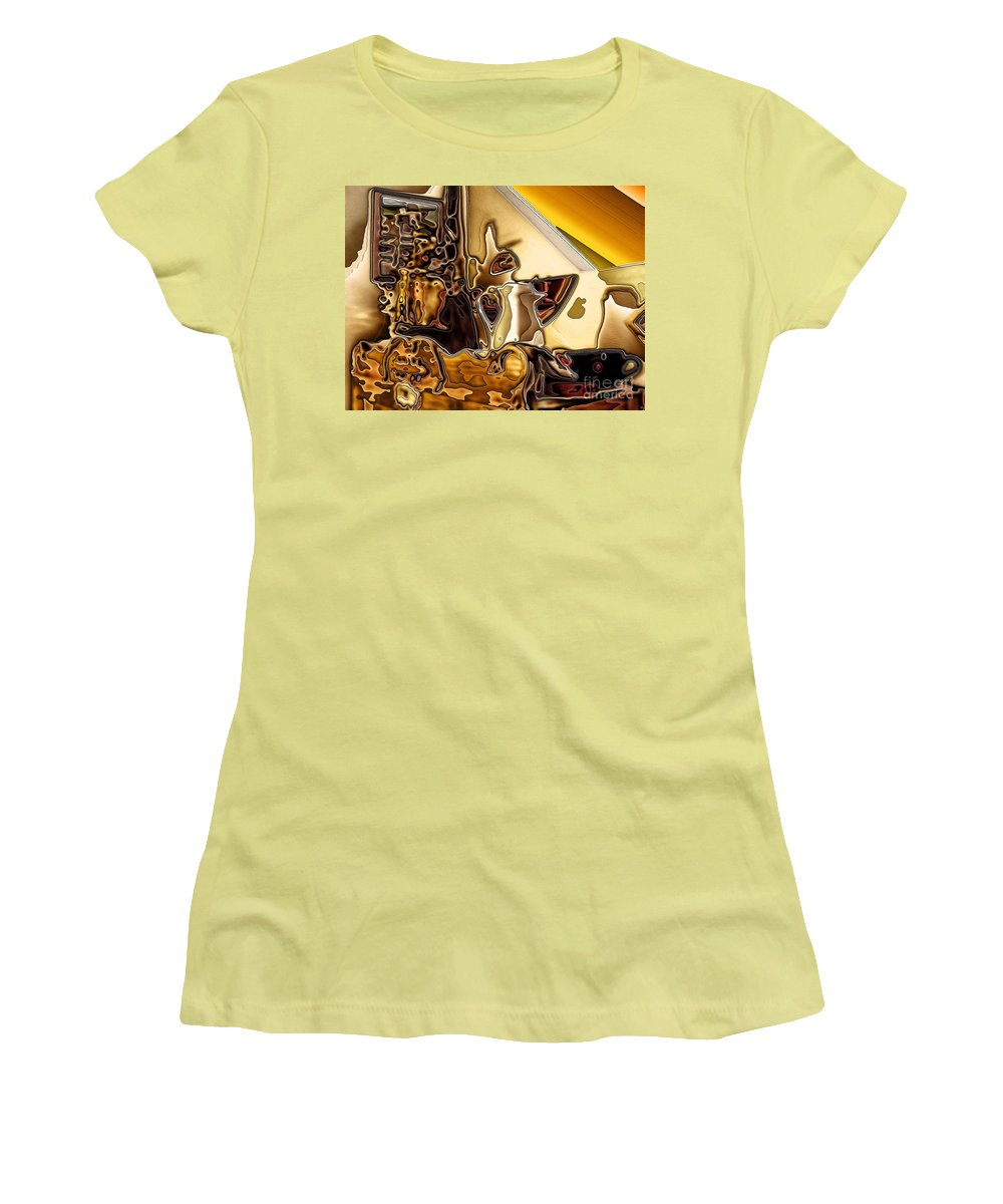 Cabinet Top Women's T-Shirt (Athletic Fit) featuring the digital art Cabinet Top by Ron Bissett