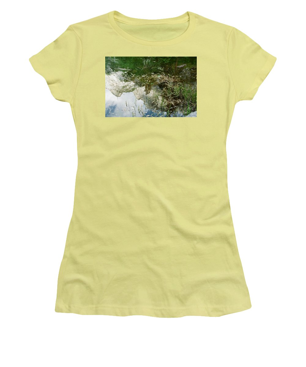 Mirror Lake Women's T-Shirt (Athletic Fit) featuring the photograph Confusion by Kathy McClure