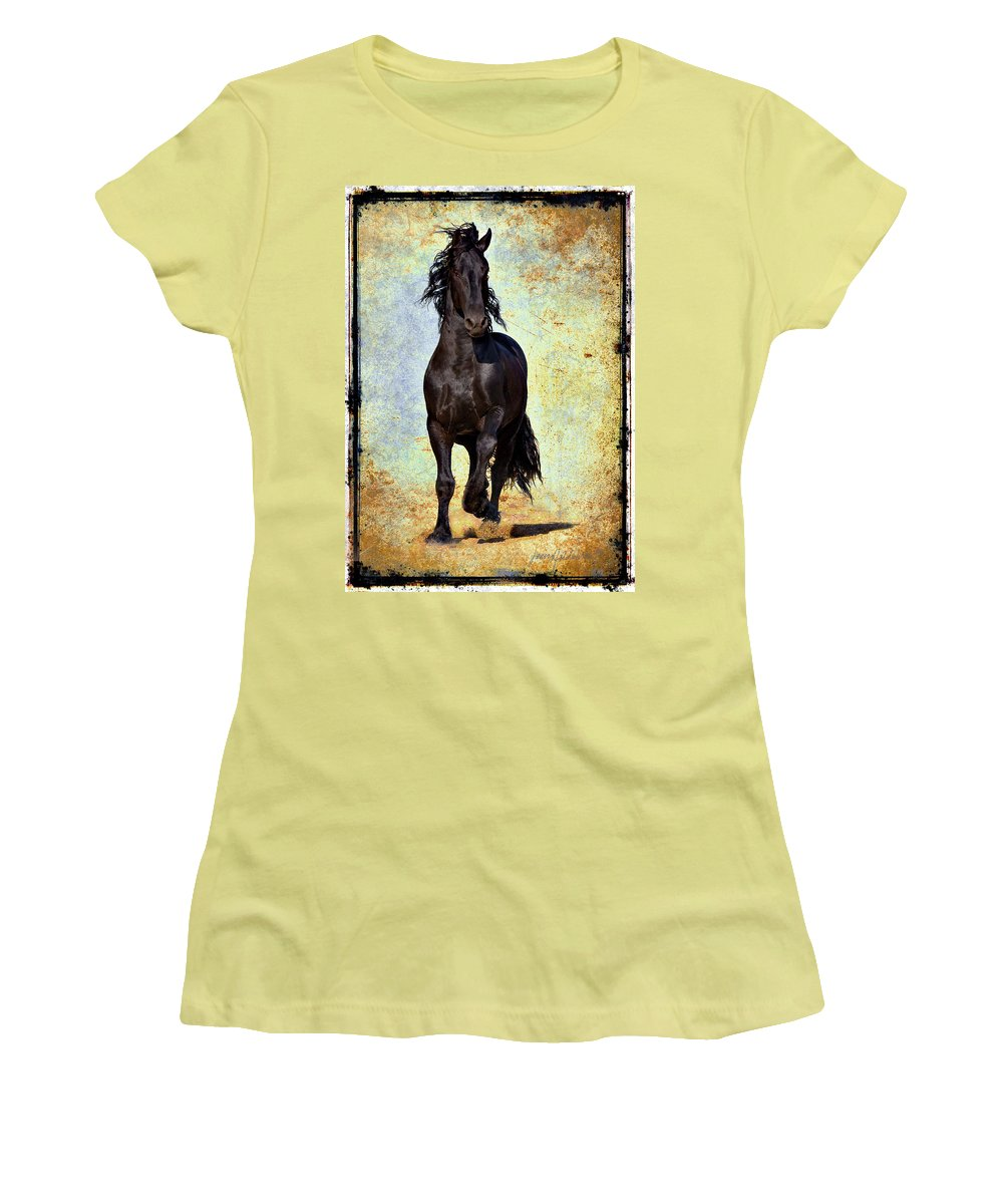 Women's T-Shirt (Athletic Fit) featuring the photograph Conqueror by Jean Hildebrant