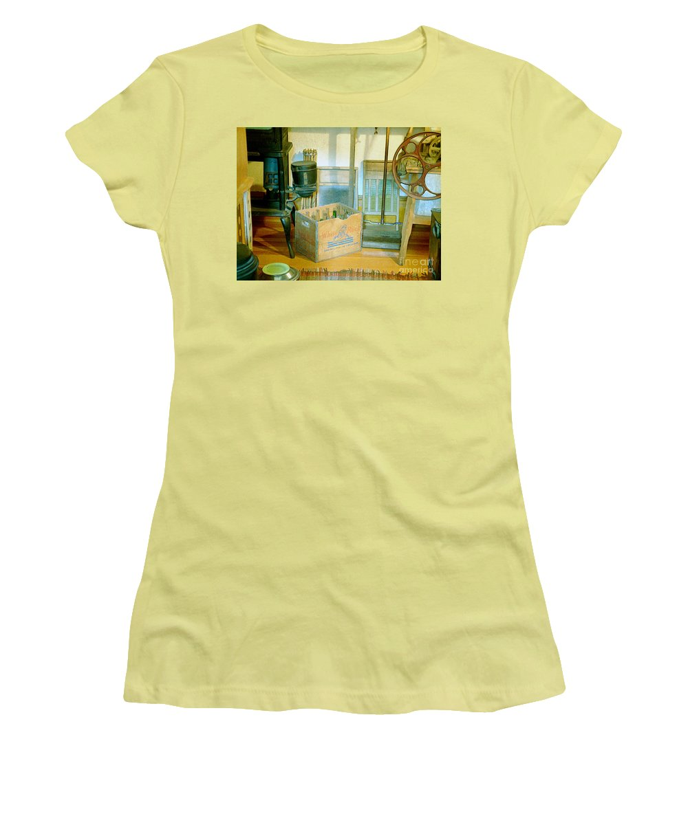 Kitchen Women's T-Shirt (Athletic Fit) featuring the painting Country Kitchen Sunshine II by RC deWinter
