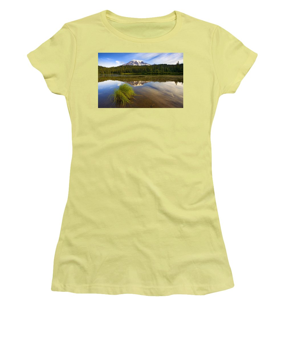 Lake Women's T-Shirt (Athletic Fit) featuring the photograph Crystal Clear by Mike Dawson