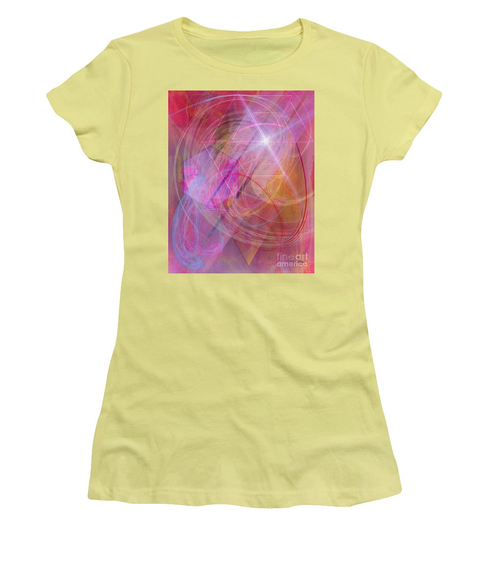 Dragon's Gem Women's T-Shirt (Athletic Fit) featuring the digital art Dragon's Gem by John Beck