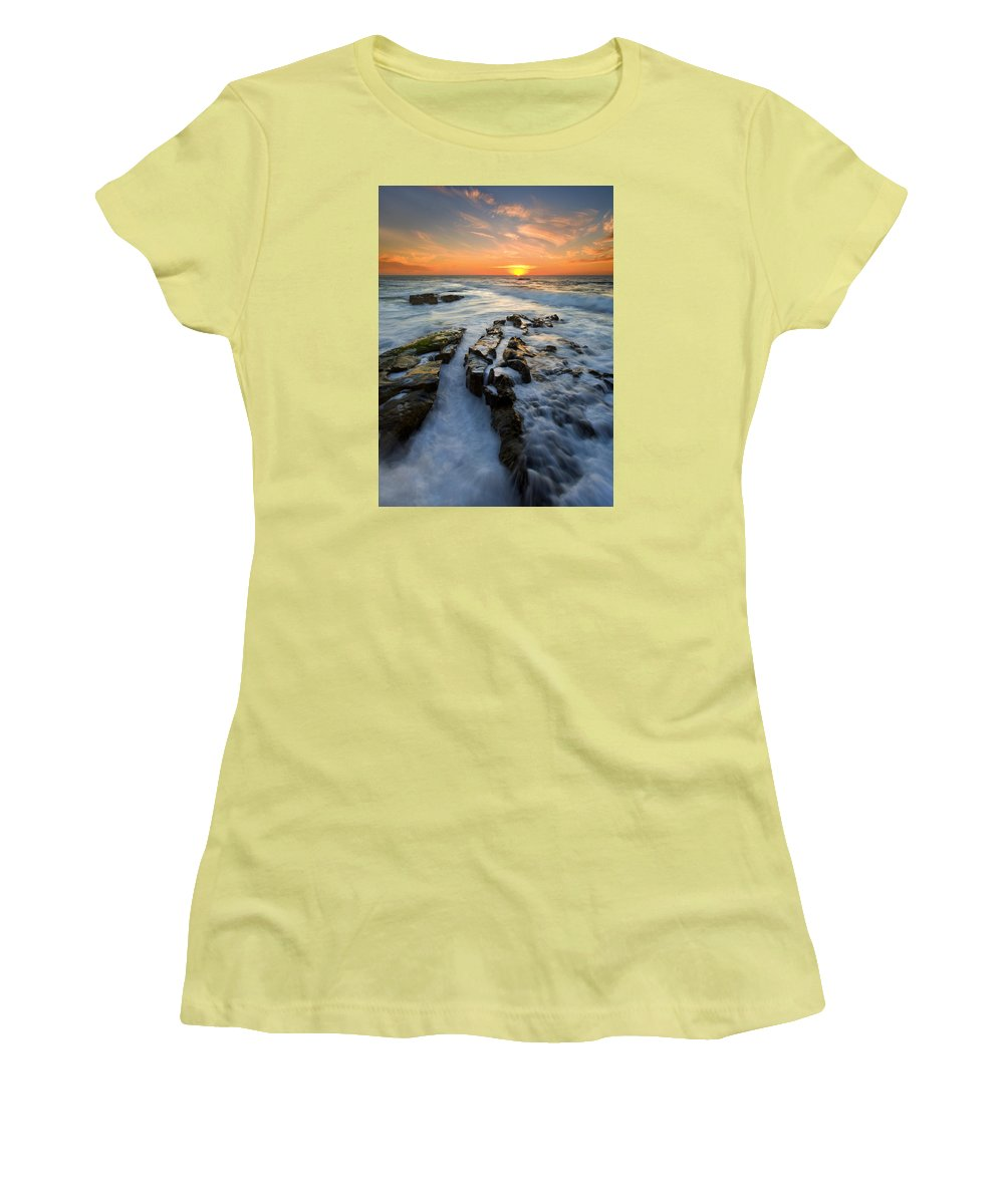 Sunset Women's T-Shirt (Athletic Fit) featuring the photograph Engulfed by Mike Dawson