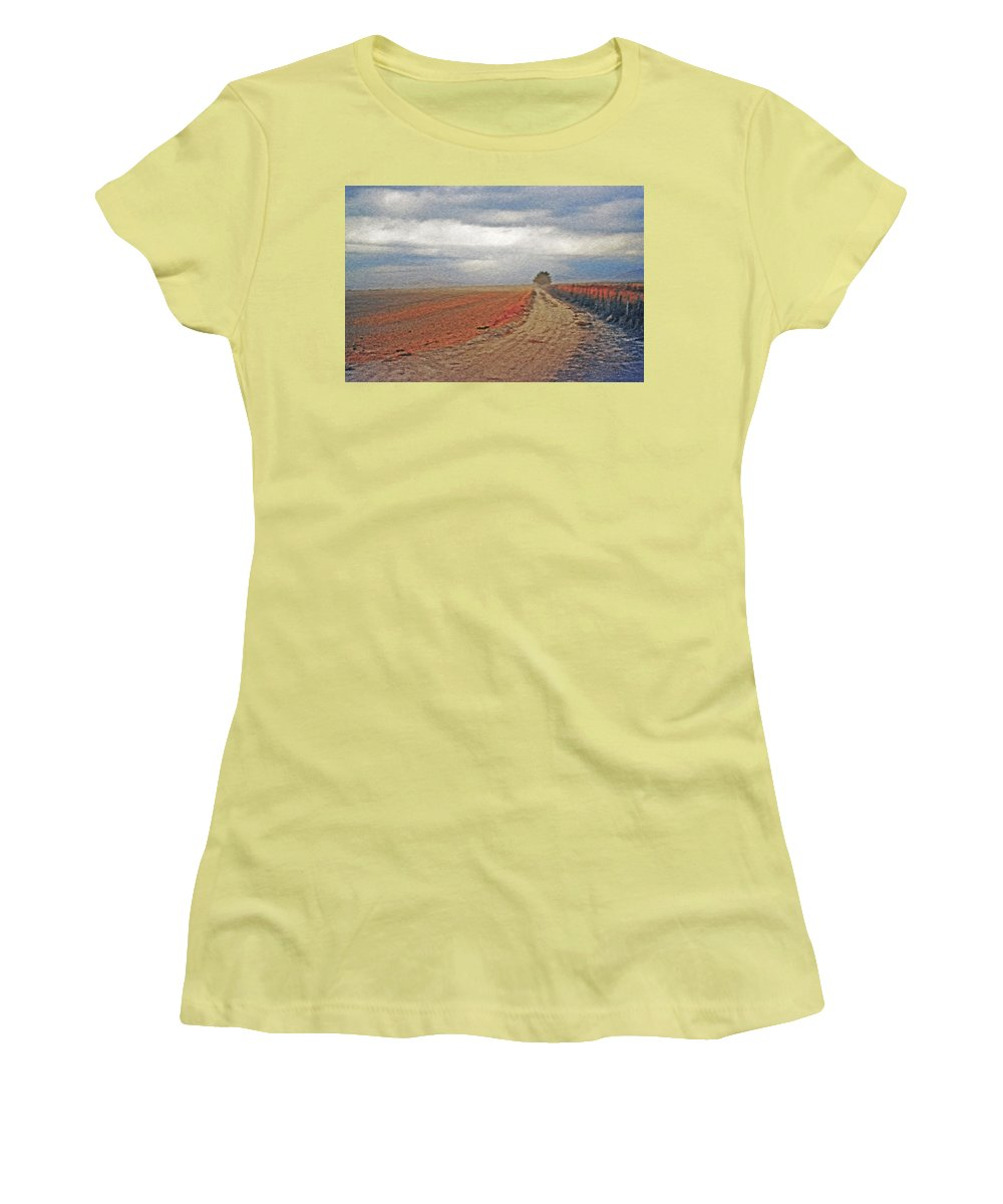 Farmland Women's T-Shirt (Athletic Fit) featuring the photograph Farmland 3 by Steve Ohlsen