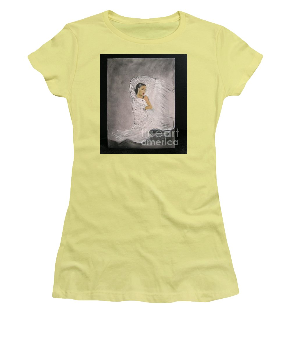 Spain Women's T-Shirt (Athletic Fit) featuring the painting Flamenco by Lizzy Forrester
