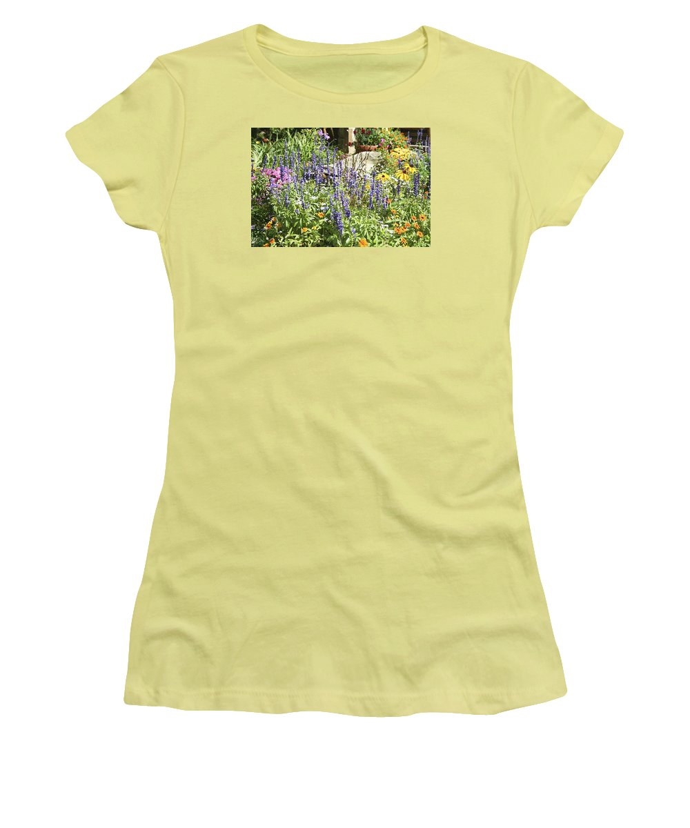 Flower Women's T-Shirt (Athletic Fit) featuring the photograph Flower Garden by Margie Wildblood