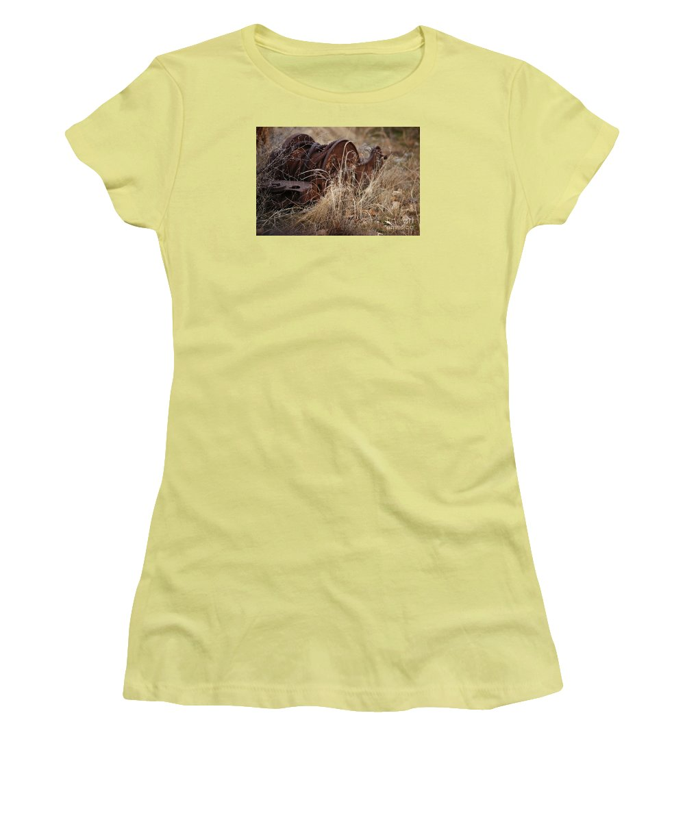 Farm Women's T-Shirt (Athletic Fit) featuring the photograph Forgotten by Linda Shafer