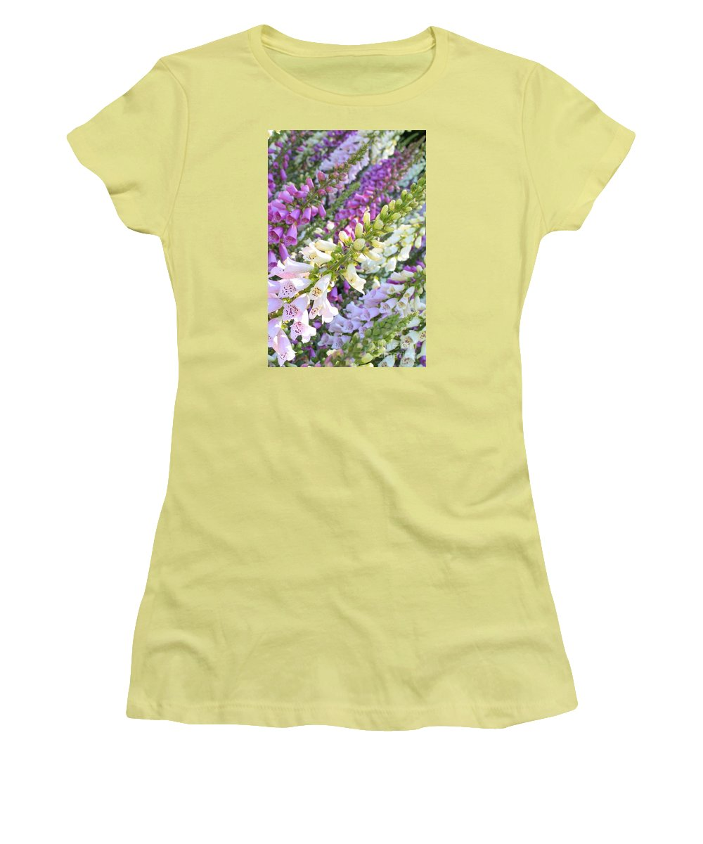 Card Women's T-Shirt (Athletic Fit) featuring the photograph Foxglove Card by Carol Groenen