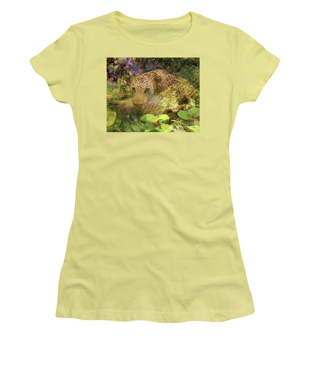 Game Spotting Women's T-Shirt (Athletic Fit) featuring the digital art Game Spotting by John Beck
