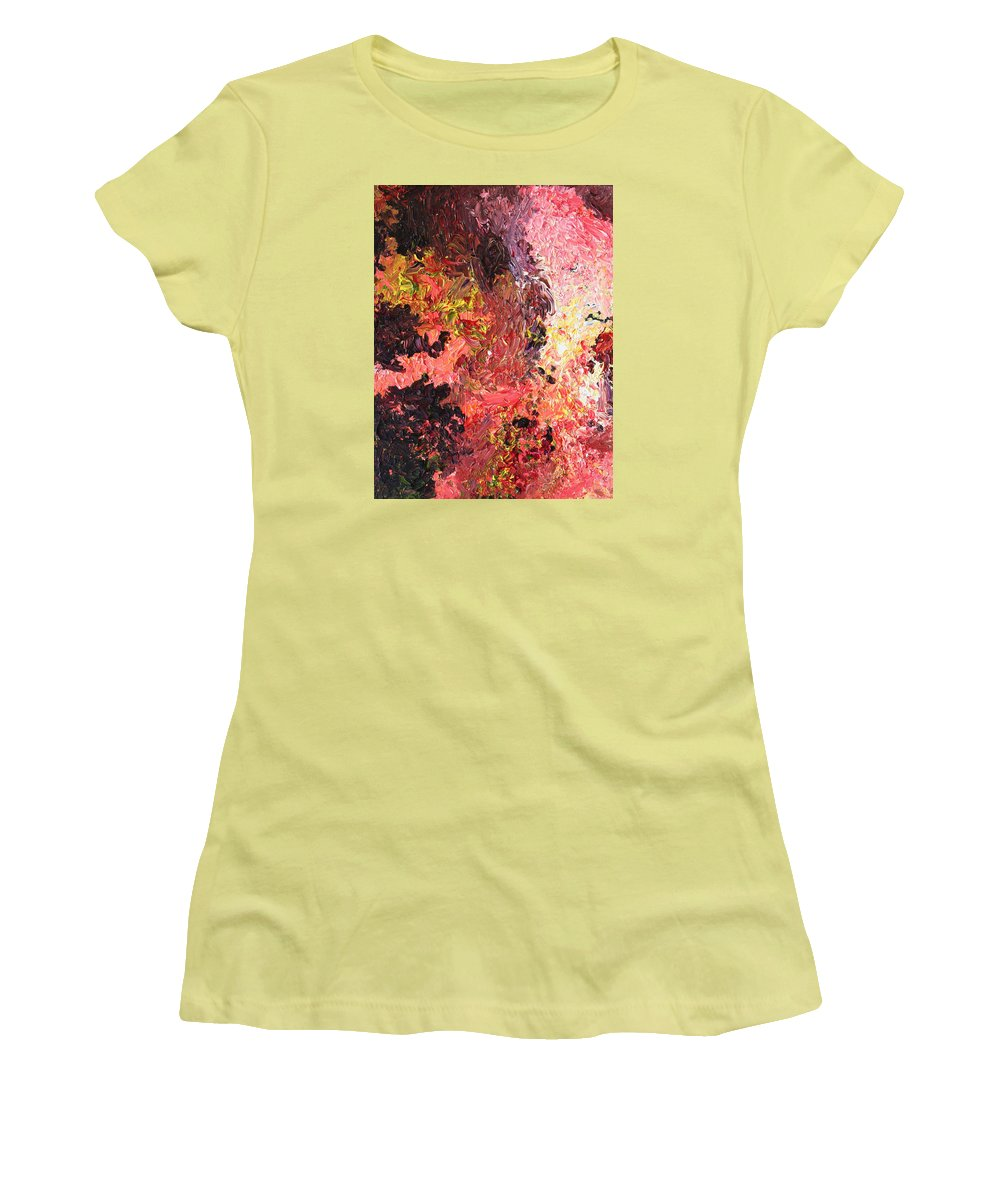 Fusionart Women's T-Shirt (Athletic Fit) featuring the painting Ganesh In The Garden by Ralph White
