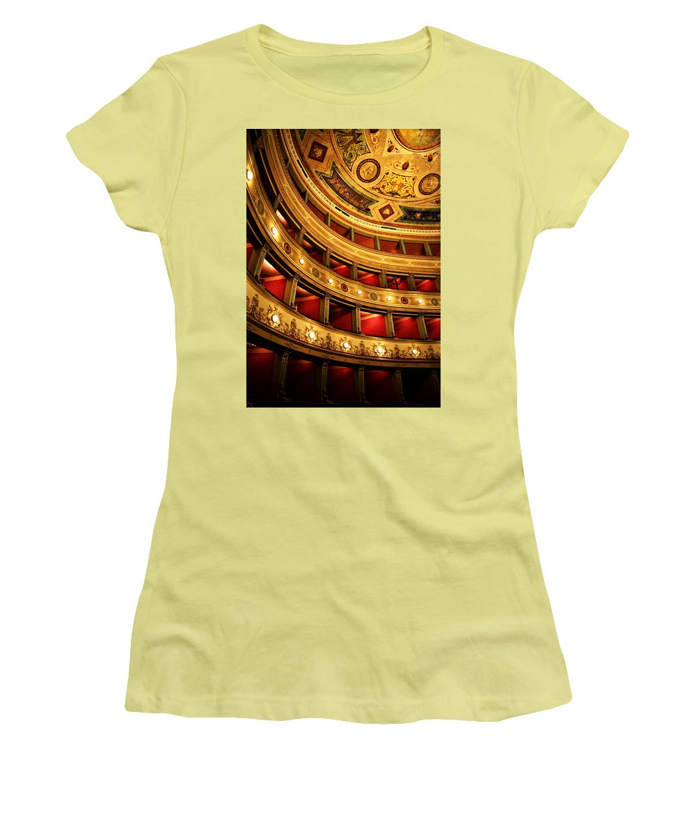 Theatre Women's T-Shirt (Athletic Fit) featuring the photograph Glorious Old Theatre by Marilyn Hunt