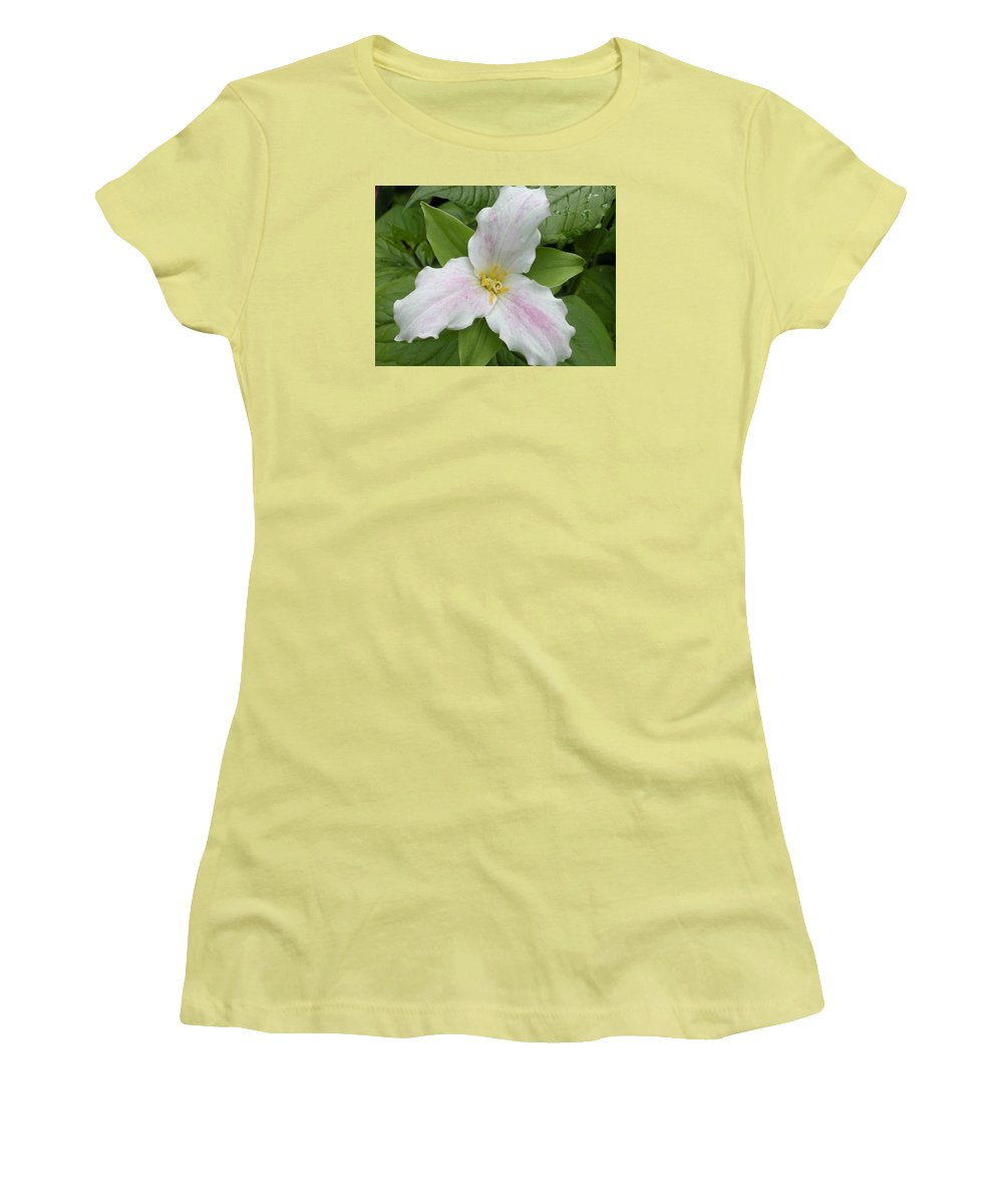 Trillium Women's T-Shirt (Athletic Fit) featuring the photograph Great White Trillium by Nelson Strong