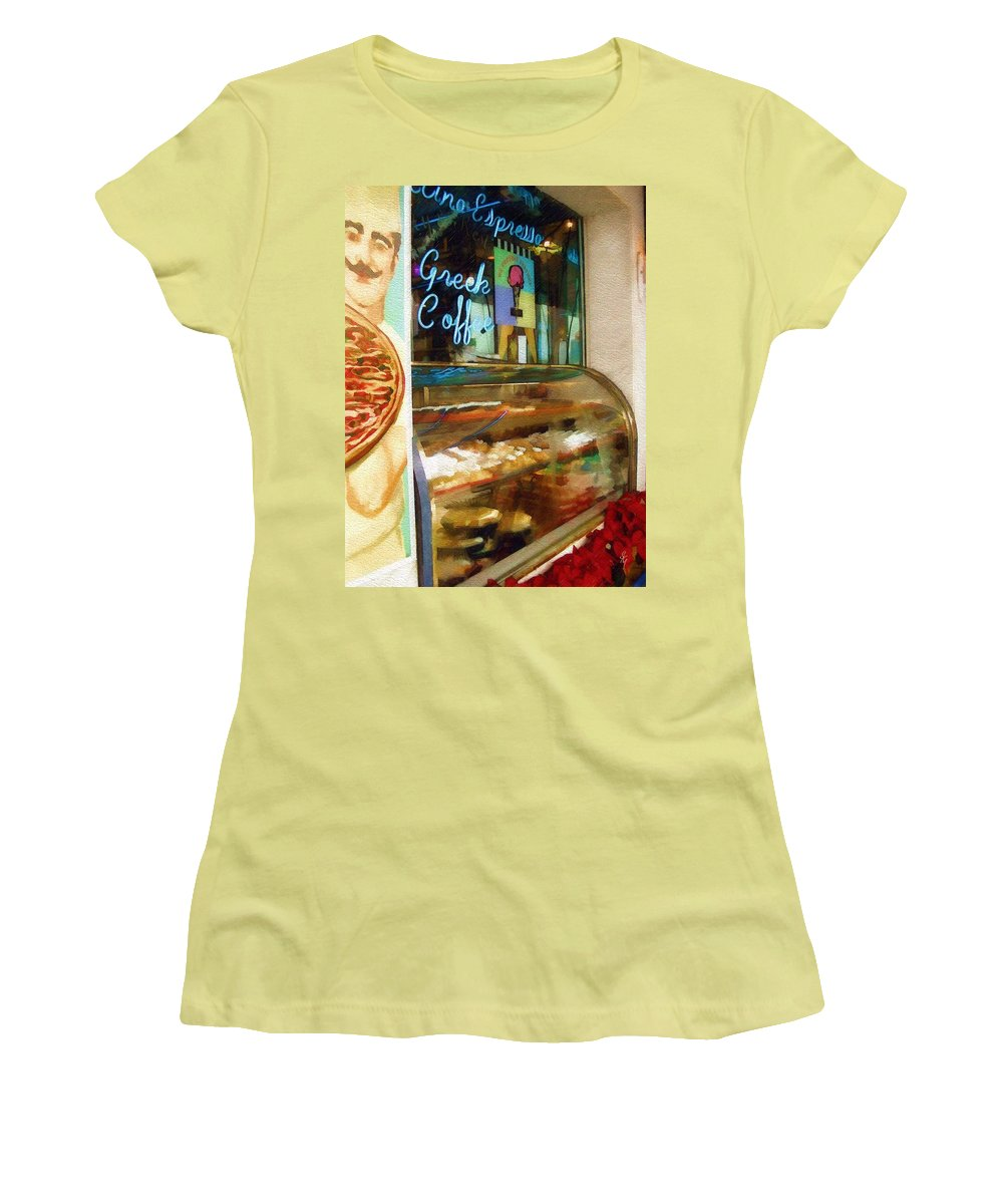 Greek Women's T-Shirt (Athletic Fit) featuring the photograph Greek Coffee by Sandy MacGowan