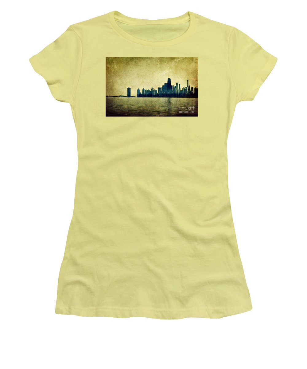 Dipasquale Women's T-Shirt (Athletic Fit) featuring the photograph I Will Find You Down The Road Where We Met That Night by Dana DiPasquale