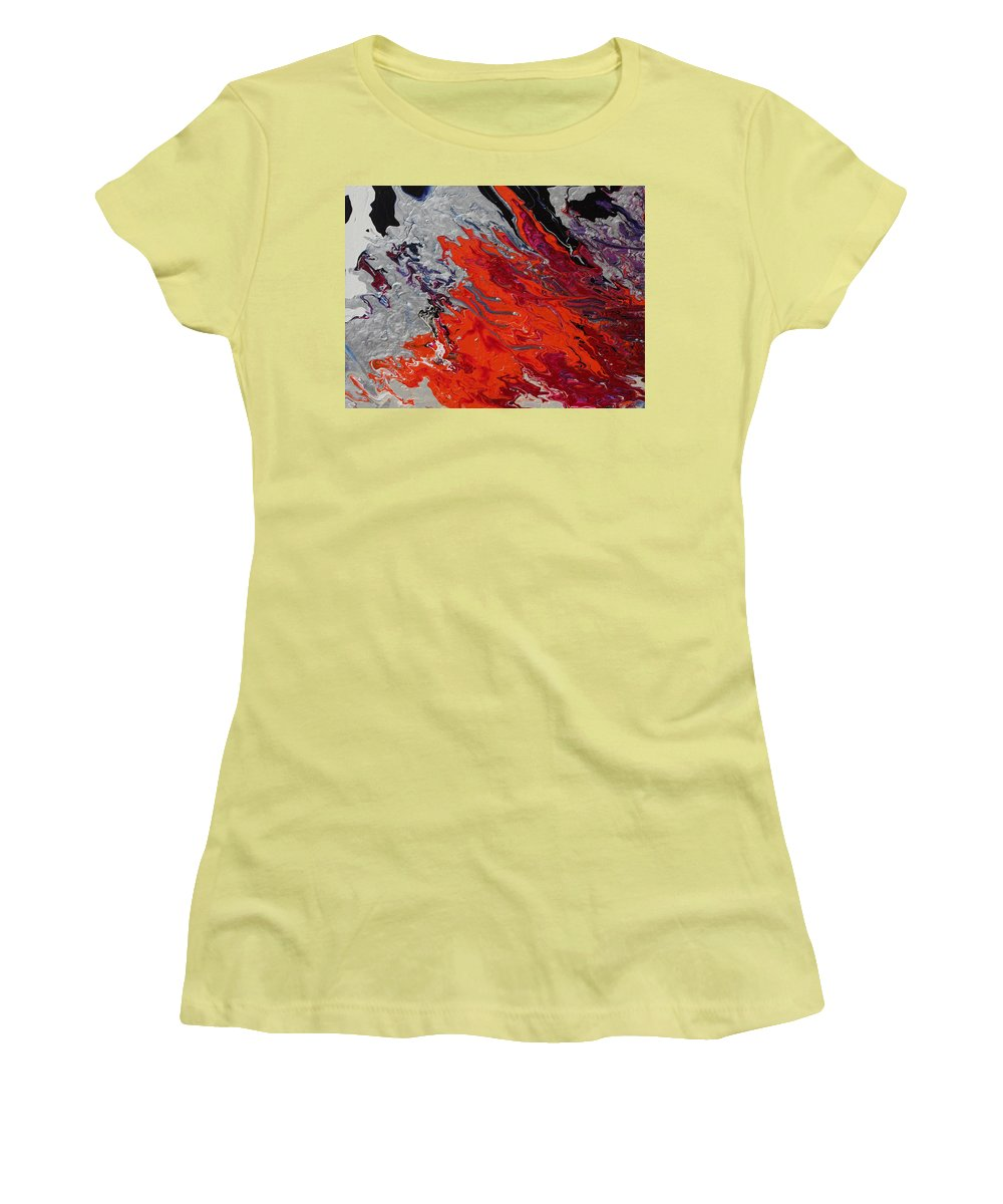 Fusionart Women's T-Shirt (Athletic Fit) featuring the painting Ignition by Ralph White