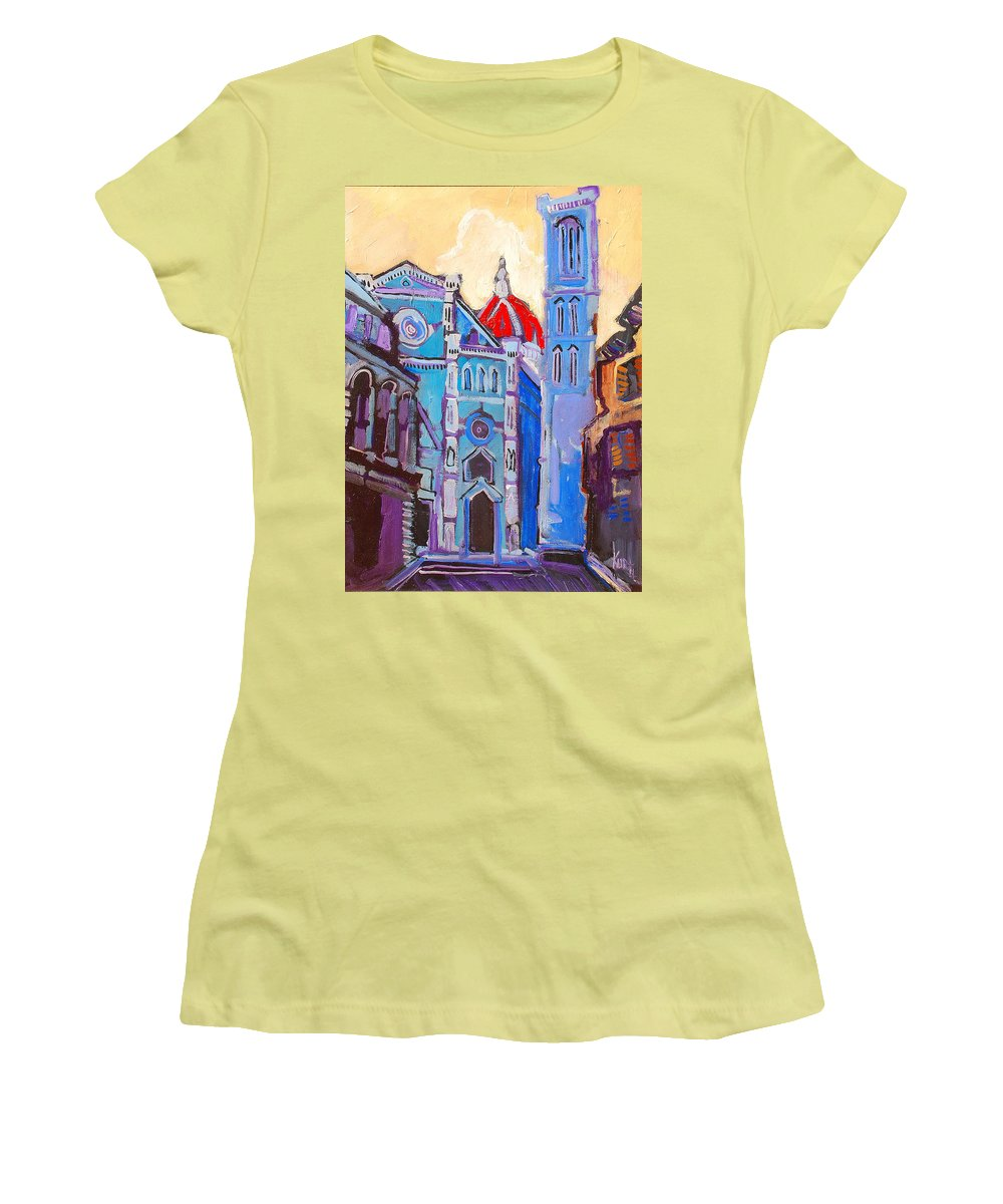 Florence Women's T-Shirt (Athletic Fit) featuring the painting In The Middle Of by Kurt Hausmann