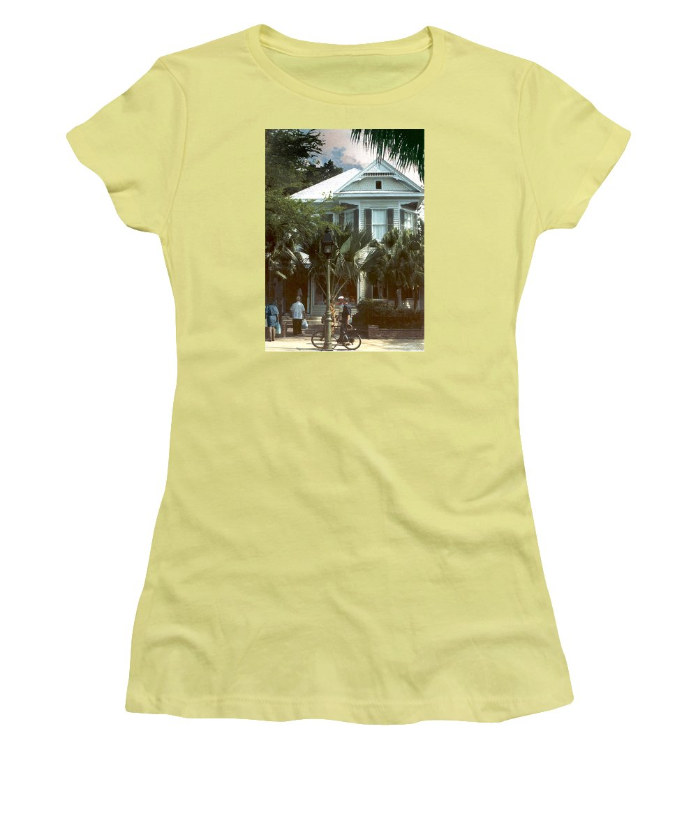 Historic Women's T-Shirt (Junior Cut) featuring the photograph Keywest by Steve Karol