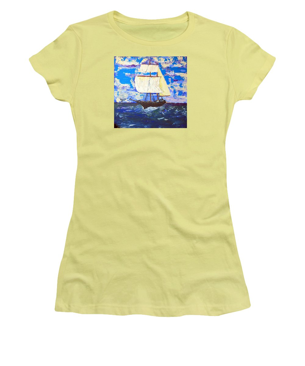 Clipper Women's T-Shirt (Athletic Fit) featuring the painting Little Clipper by J R Seymour