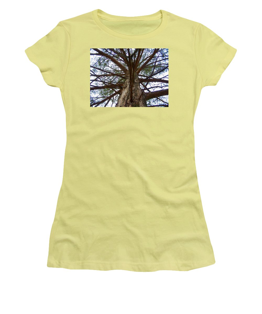 Life Women's T-Shirt (Athletic Fit) featuring the photograph Live Spokes by Nadine Rippelmeyer