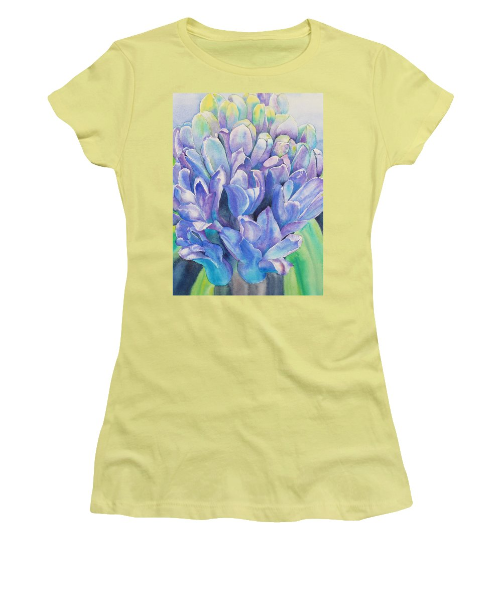 Flower Women's T-Shirt (Athletic Fit) featuring the painting Lovely Lupine by Ruth Kamenev