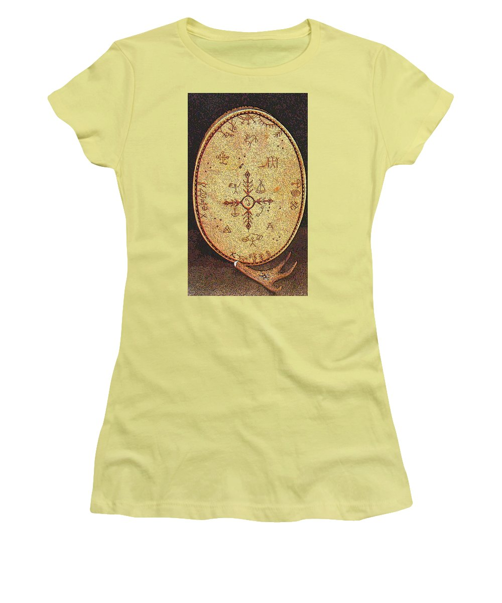 Magic Drum Women's T-Shirt (Athletic Fit) featuring the photograph Magic Drum by Merja Waters