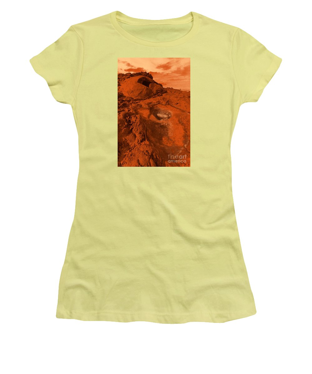 Alien Women's T-Shirt (Athletic Fit) featuring the photograph Mars Landscape by Gaspar Avila
