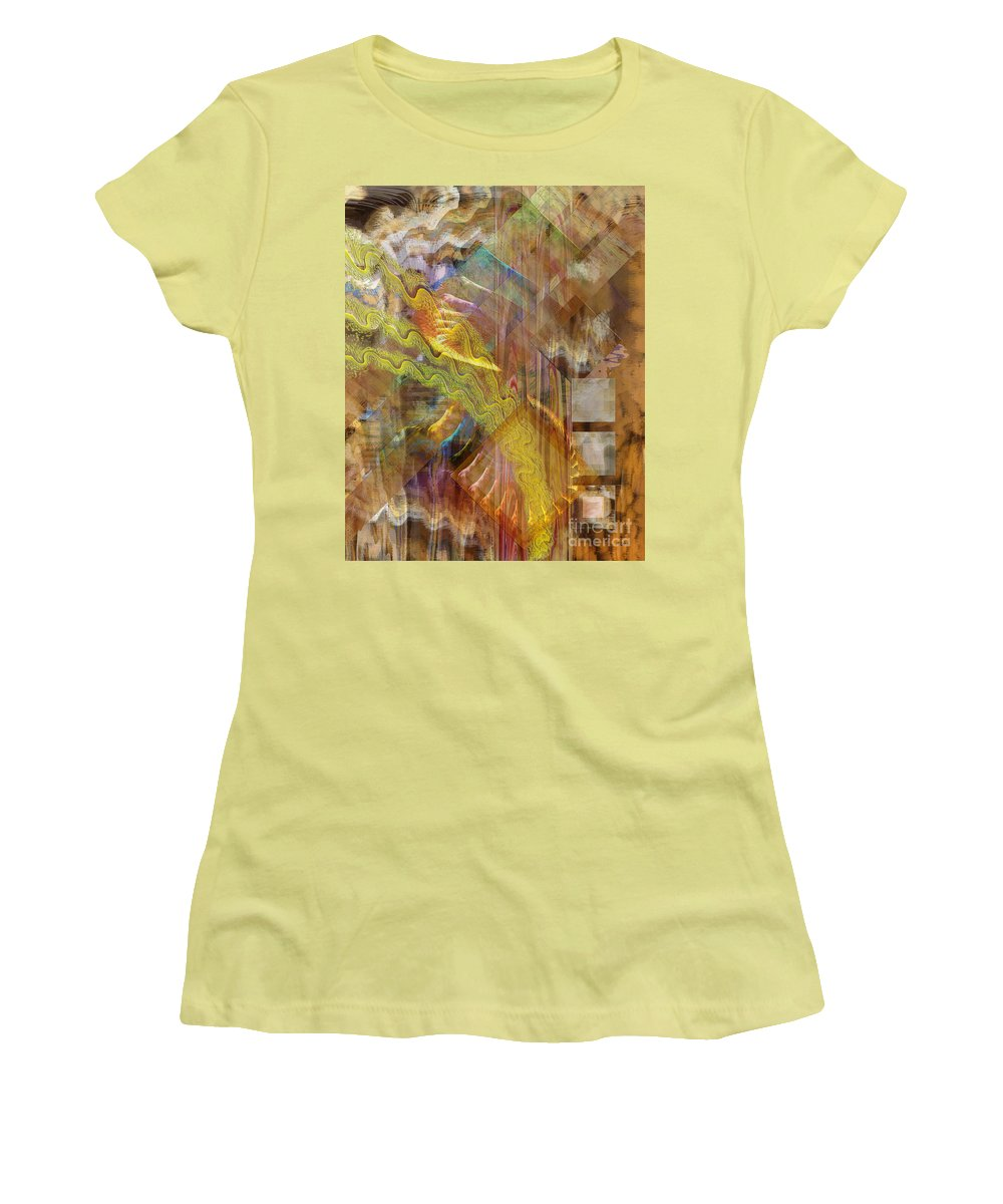 Morning Dance Women's T-Shirt (Athletic Fit) featuring the digital art Morning Dance by John Beck