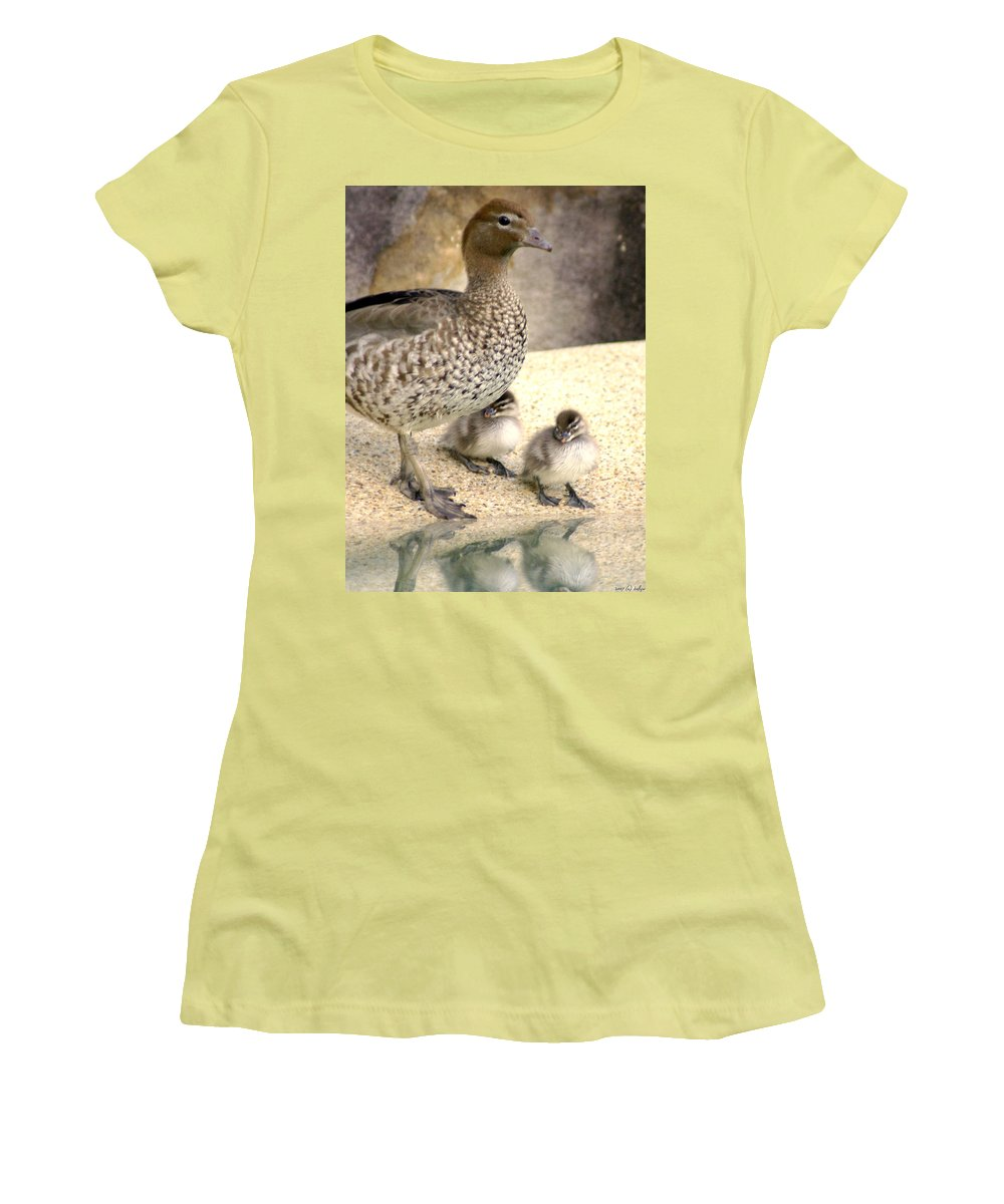 Animals Women's T-Shirt (Athletic Fit) featuring the photograph Mother Of Twins by Holly Kempe