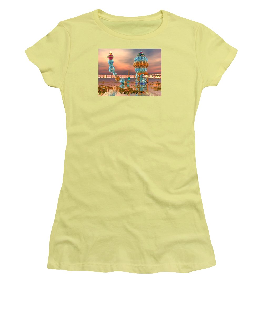 Landscape Women's T-Shirt (Athletic Fit) featuring the digital art On Vacation by Dave Martsolf
