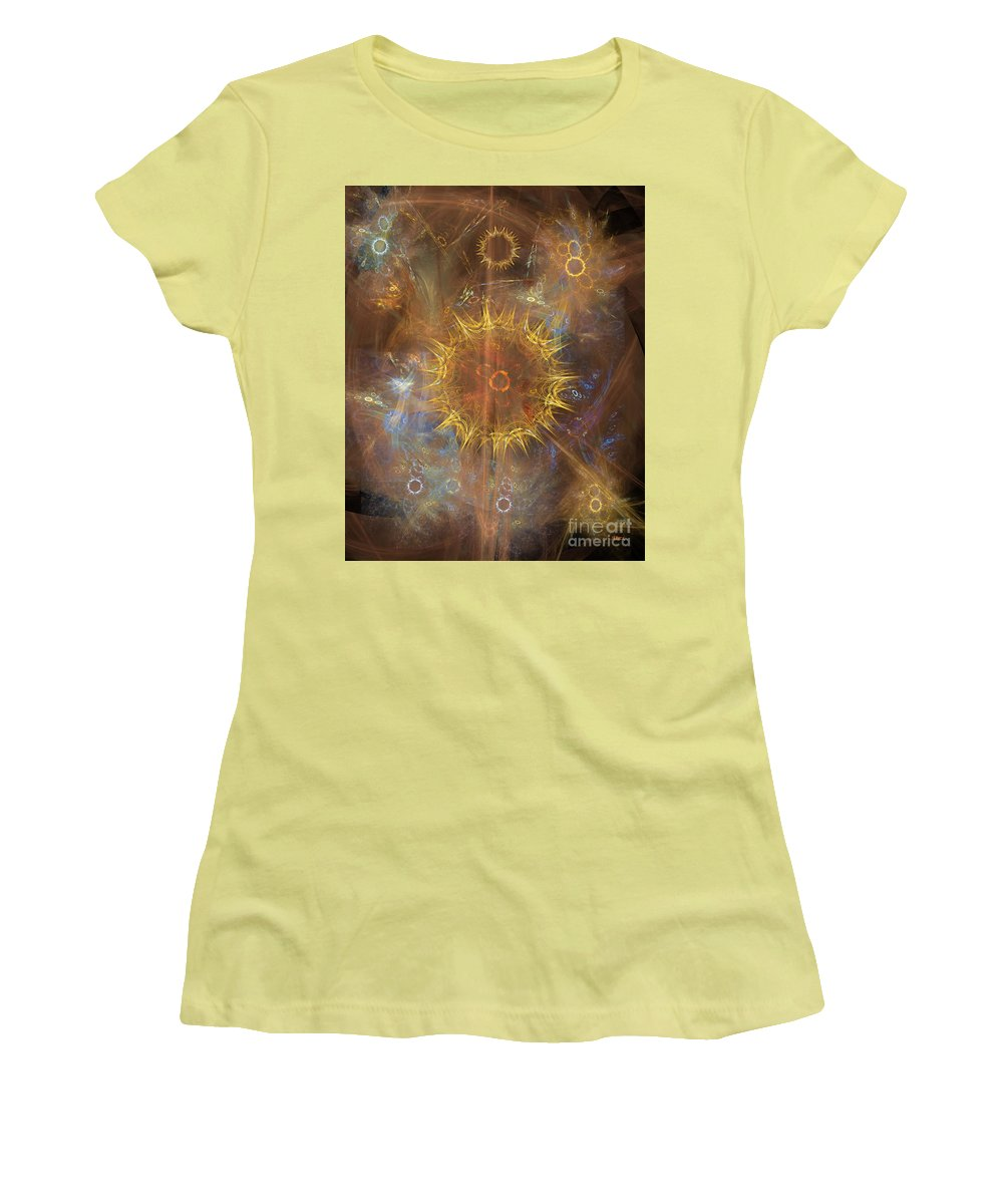 One Ring To Rule Them All Women's T-Shirt (Athletic Fit) featuring the digital art One Ring To Rule Them All by John Beck