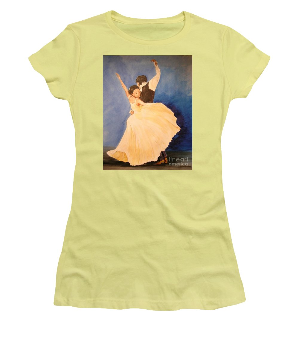 Spain Women's T-Shirt (Athletic Fit) featuring the painting Pasion Gitana by Lizzy Forrester