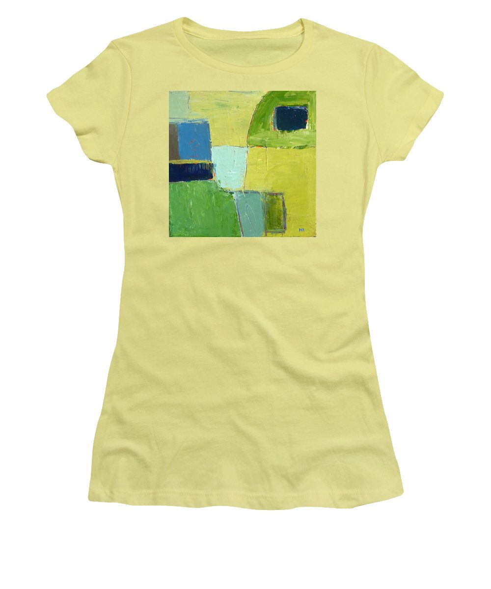Abstract Women's T-Shirt (Athletic Fit) featuring the painting Peace 1 by Habib Ayat