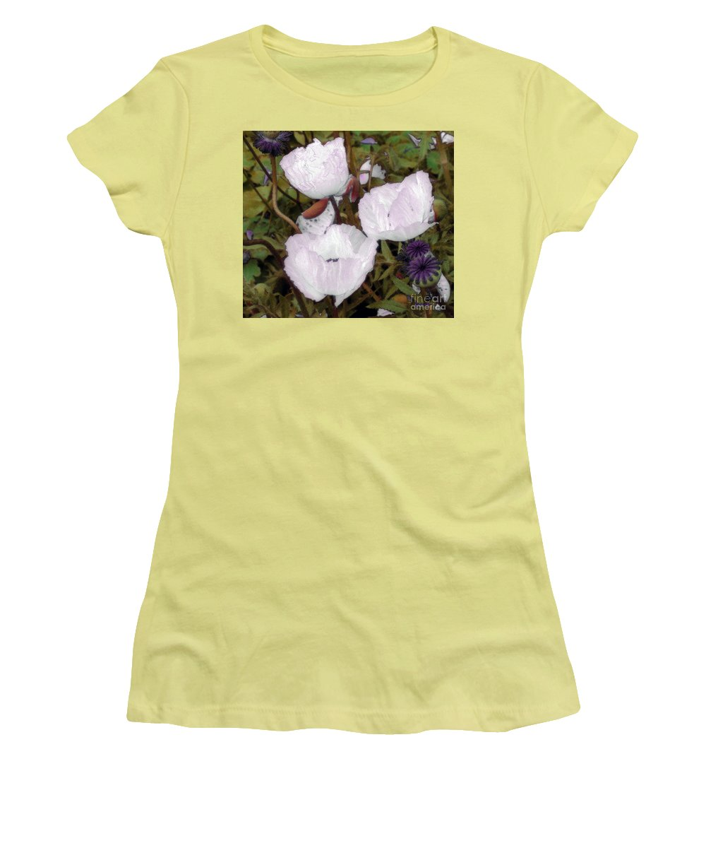 Blooms Women's T-Shirt (Athletic Fit) featuring the digital art Pearlblossoms by RC deWinter