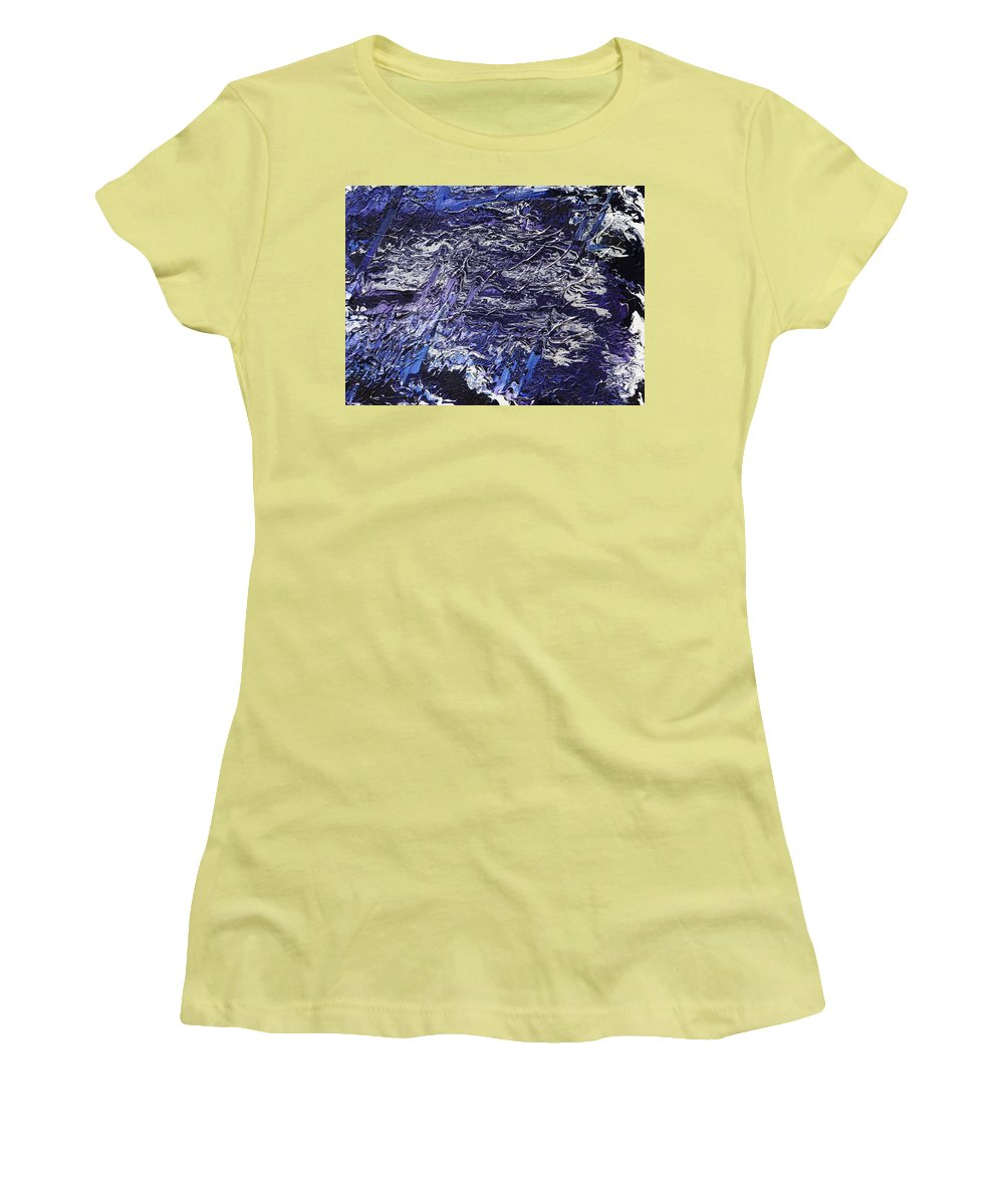 Fusionart Women's T-Shirt (Athletic Fit) featuring the painting Rapid by Ralph White