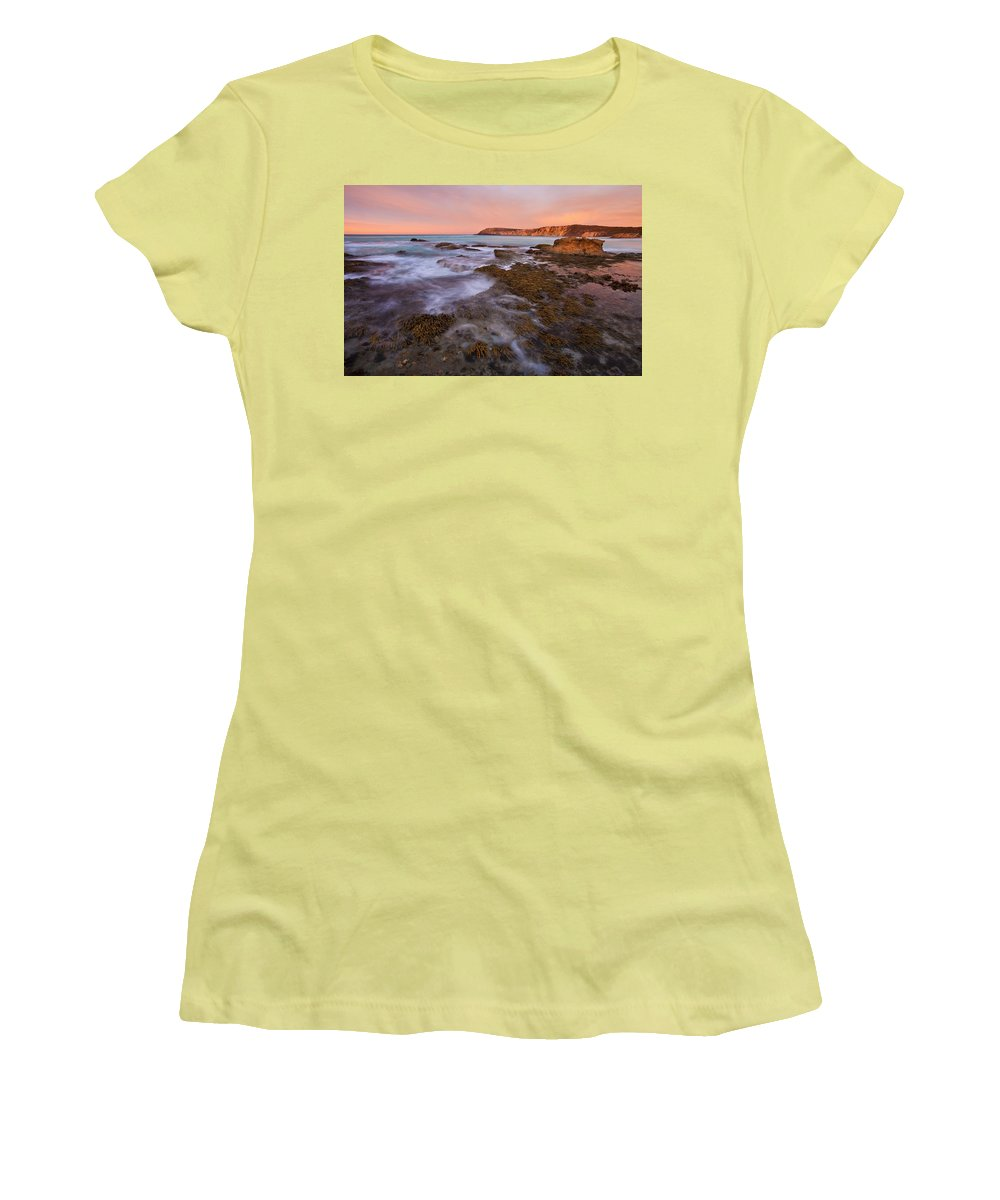 Sunrise Women's T-Shirt (Athletic Fit) featuring the photograph Red Dawning by Mike Dawson