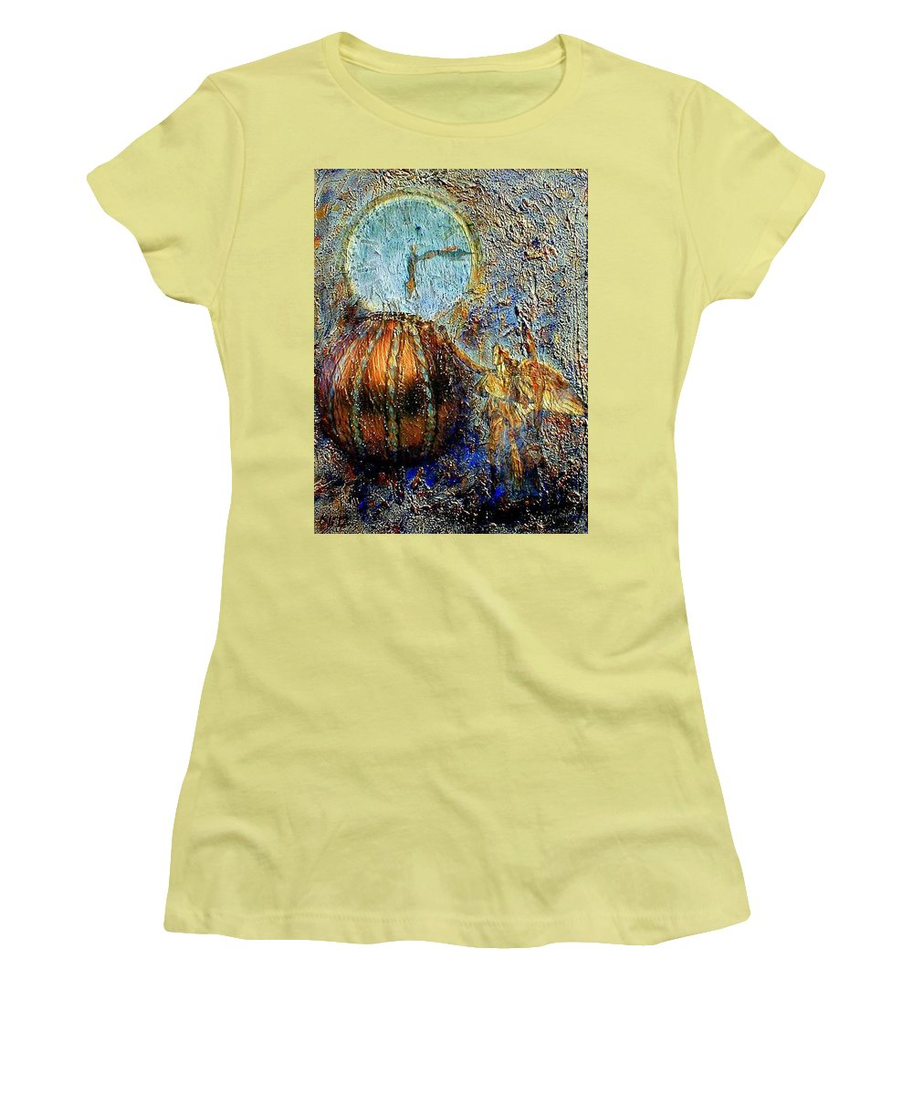 Christian Women's T-Shirt (Athletic Fit) featuring the mixed media Revelation by Gail Kirtz