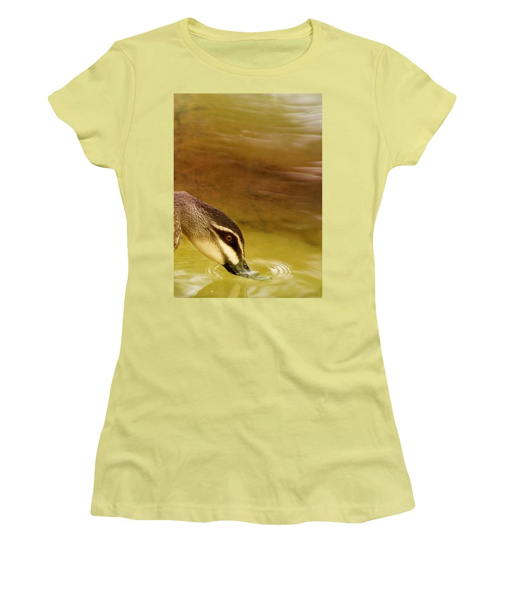 Animals Women's T-Shirt (Athletic Fit) featuring the photograph Ripples by Holly Kempe