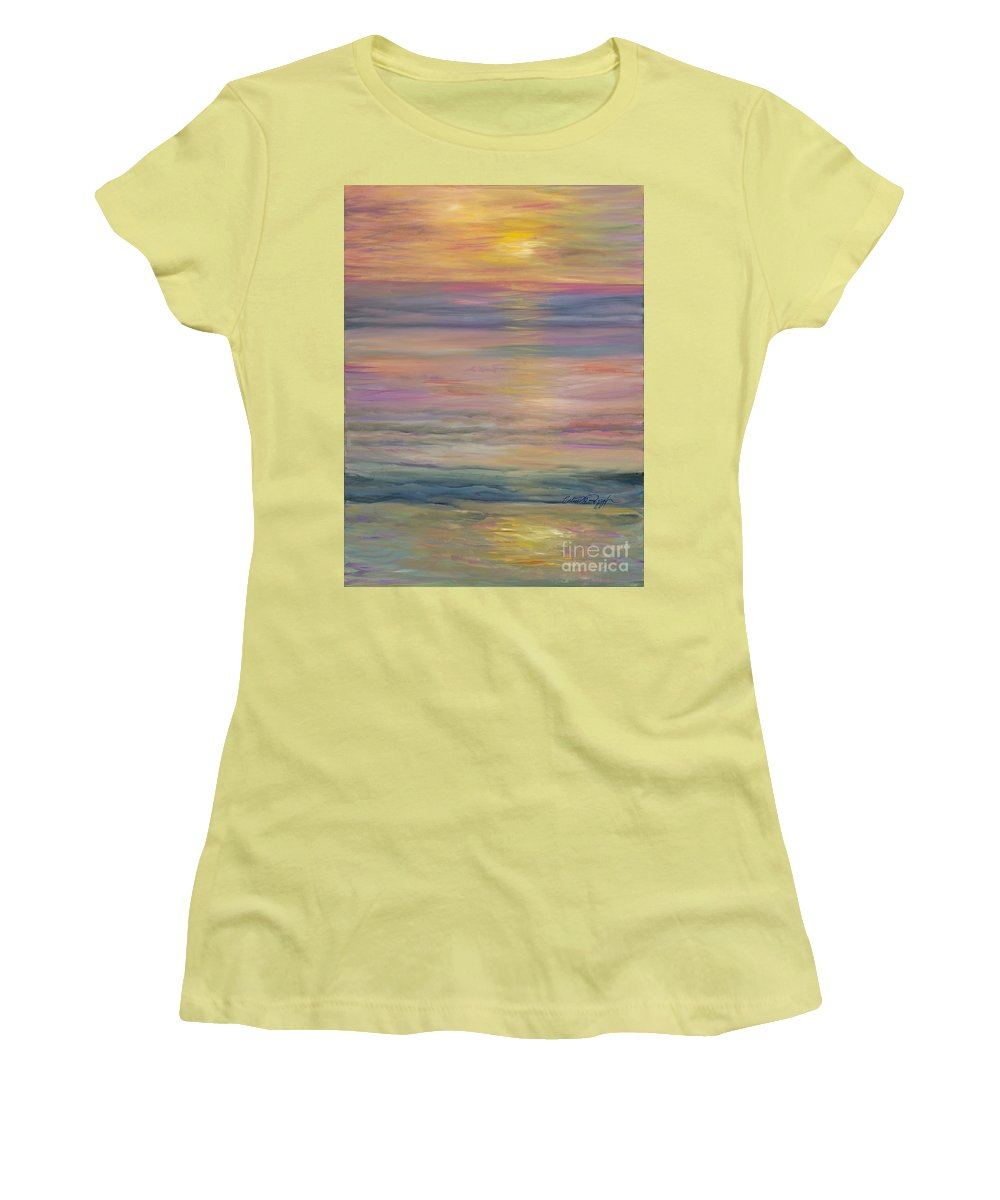 Sea Women's T-Shirt (Athletic Fit) featuring the painting Seascape by Nadine Rippelmeyer