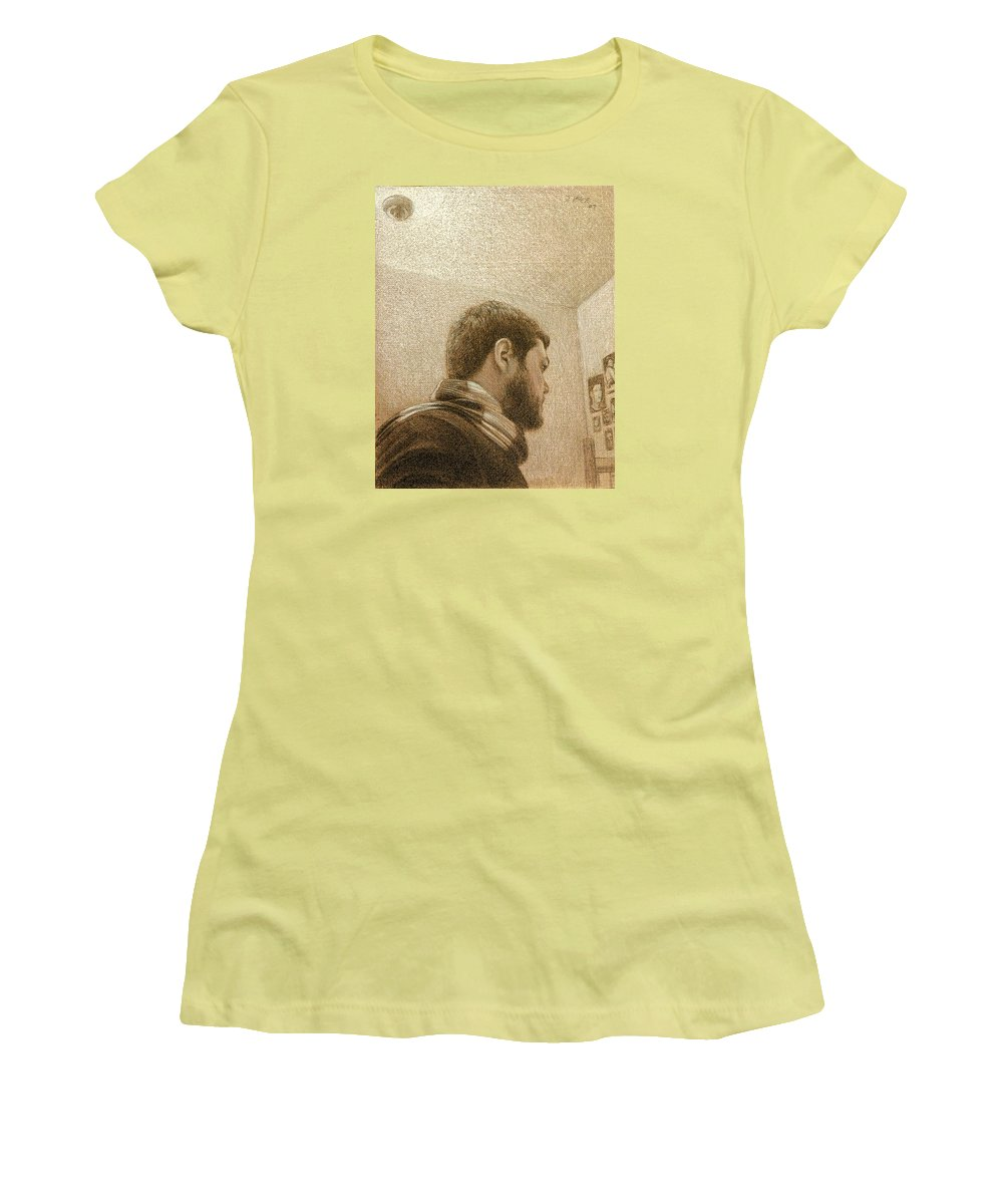 Women's T-Shirt (Athletic Fit) featuring the painting Self by Joe Velez