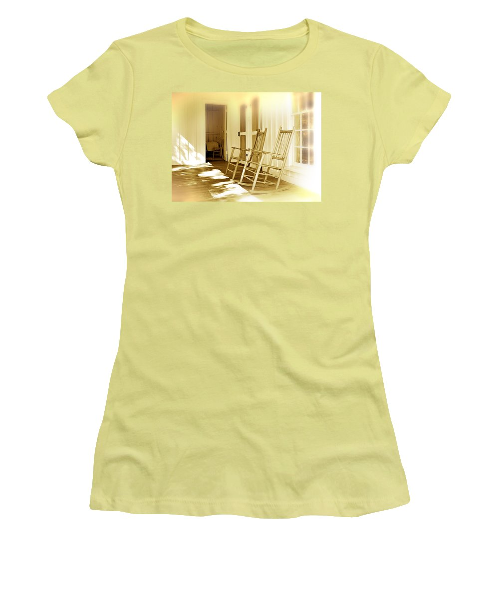 Porch Women's T-Shirt (Athletic Fit) featuring the photograph Shared Moments by Mal Bray