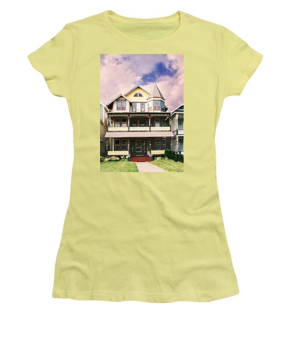 Landscape Women's T-Shirt (Athletic Fit) featuring the photograph Sisters Panel Three Of Triptych by Steve Karol