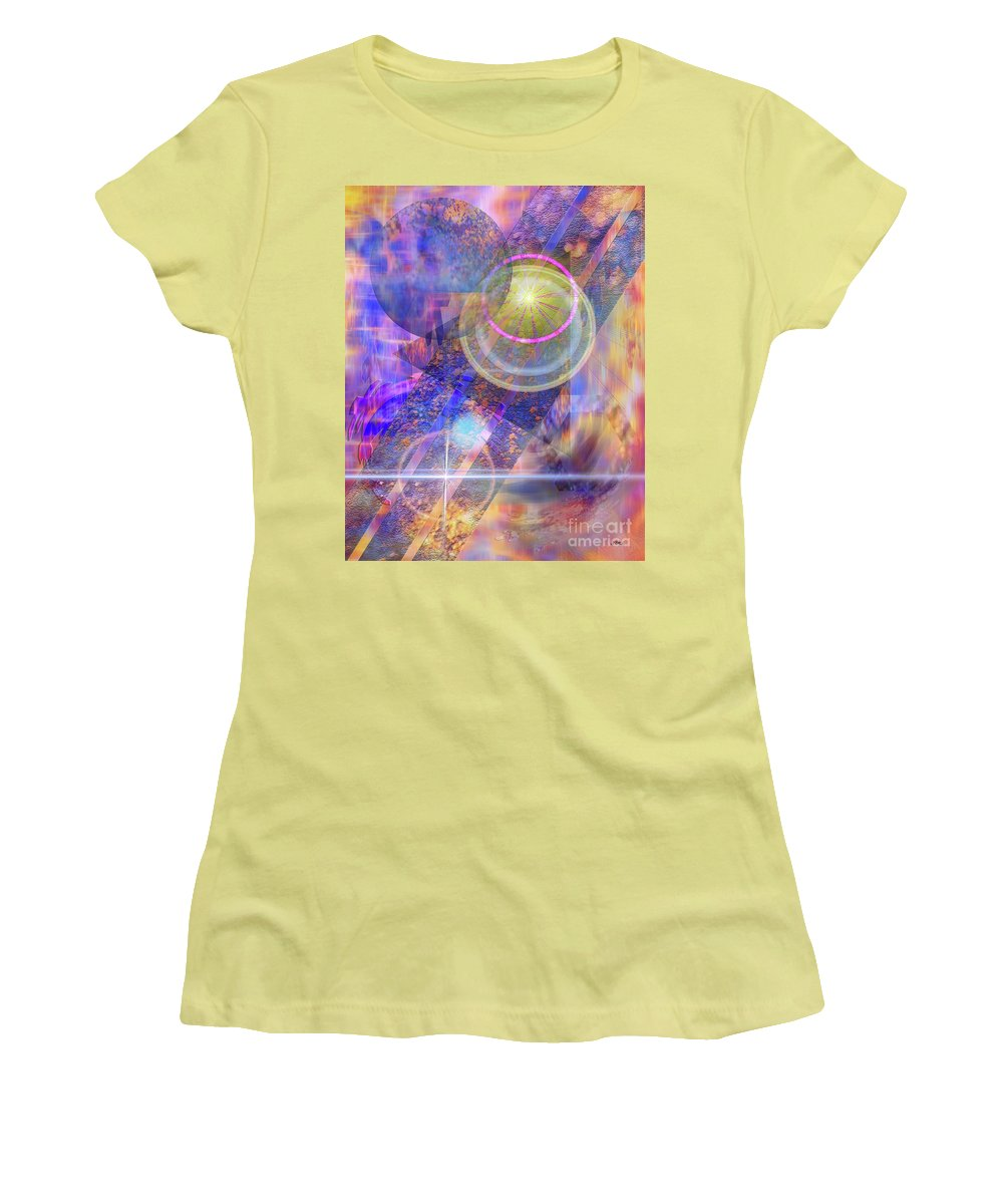 Solar Progression Women's T-Shirt (Athletic Fit) featuring the digital art Solar Progression by John Beck