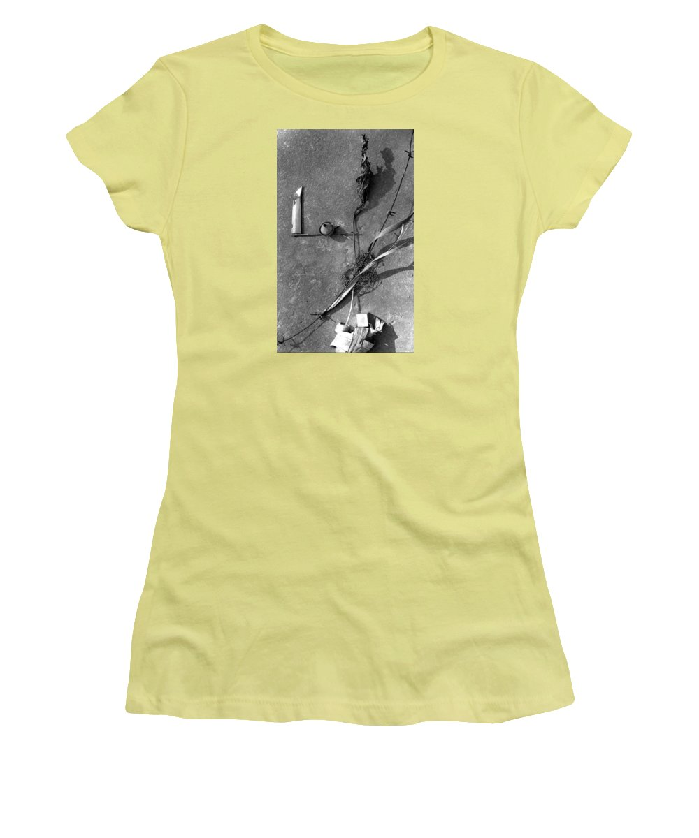 Still Life Women's T-Shirt (Athletic Fit) featuring the photograph Still Forms by Ted M Tubbs