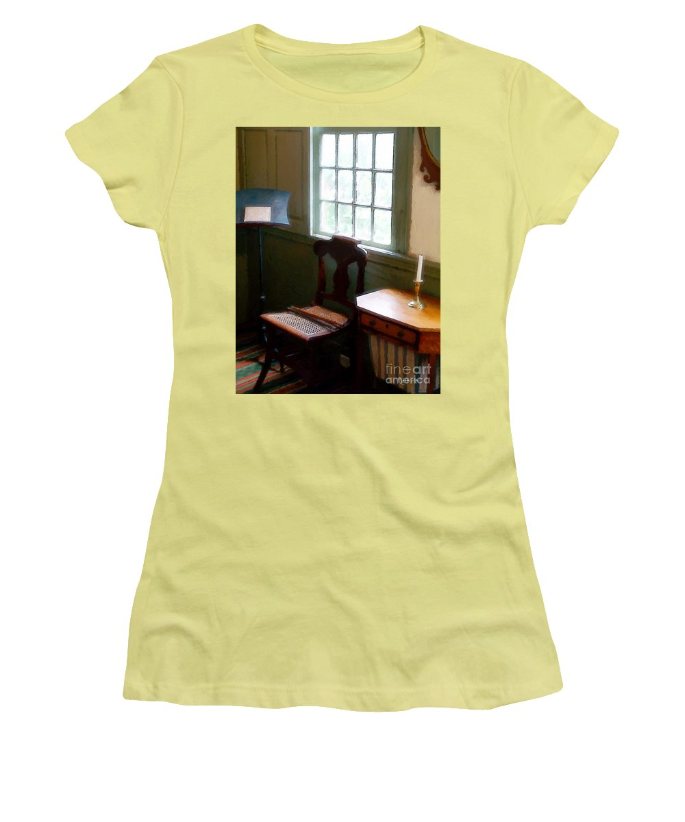 Still Life Women's T-Shirt (Athletic Fit) featuring the painting Still Life, Stevens House by RC deWinter