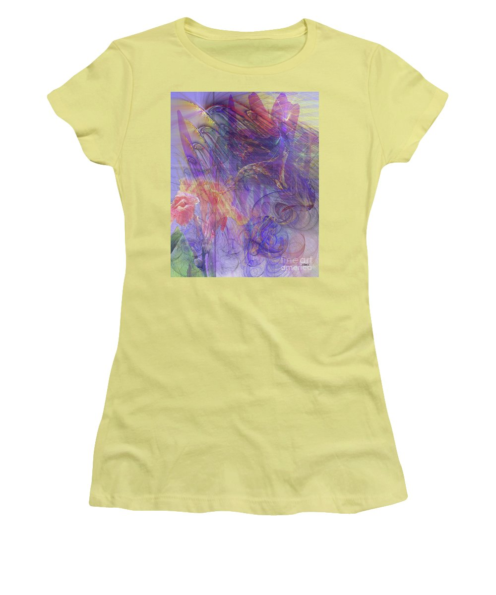 Summer Awakes Women's T-Shirt (Athletic Fit) featuring the digital art Summer Awakes by John Beck