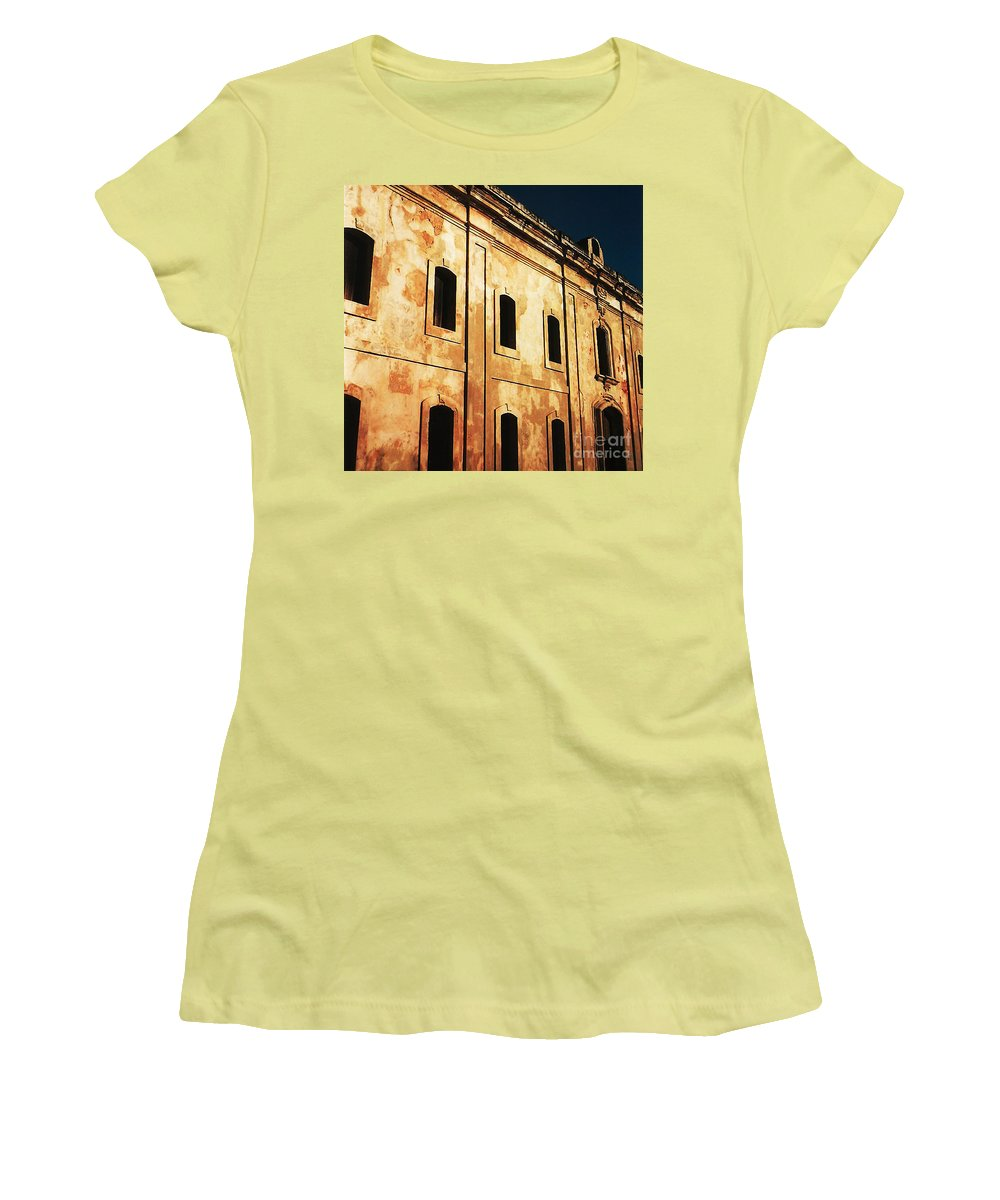 Buildings Women's T-Shirt (Athletic Fit) featuring the photograph Sun Kissed by Jeff Barrett