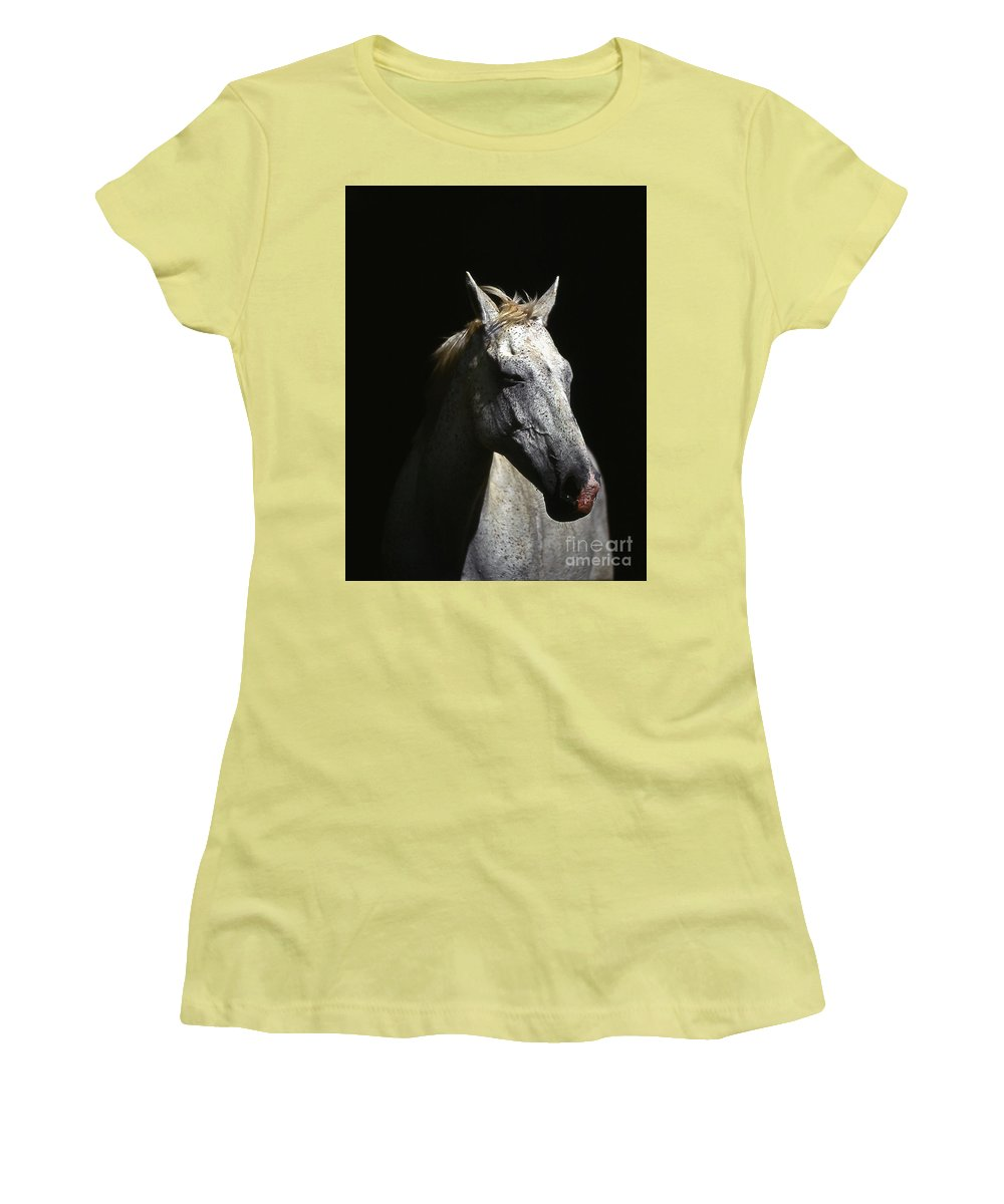 Horse Women's T-Shirt (Athletic Fit) featuring the photograph Sundance by Jim Cazel