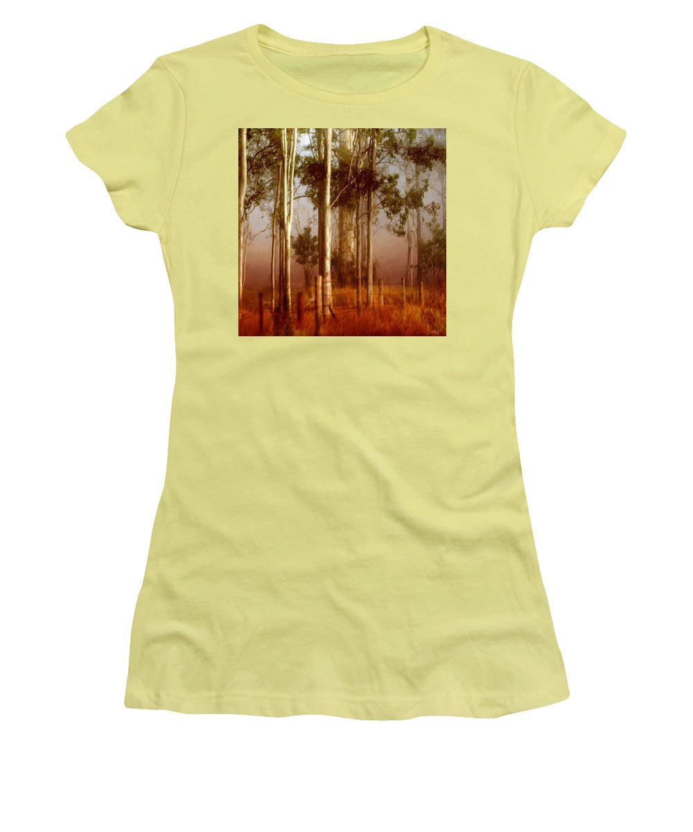 Landscape Women's T-Shirt (Athletic Fit) featuring the photograph Tall Timbers by Holly Kempe